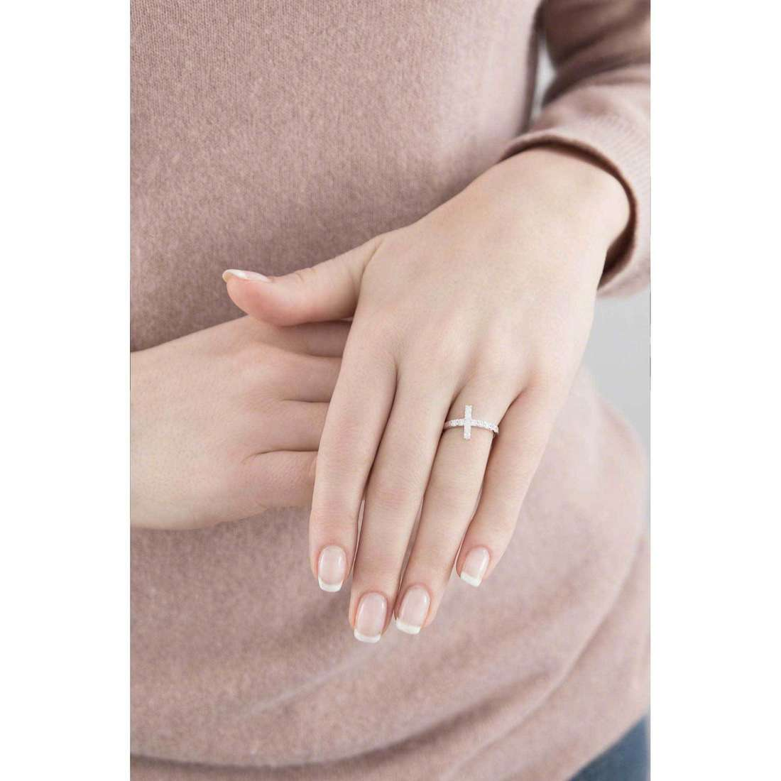 Amen rings Croce woman ACOBB-12 indosso