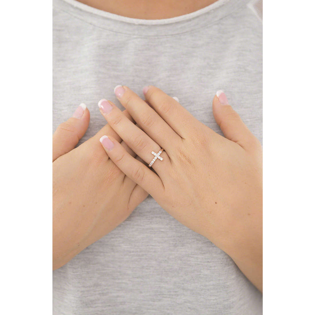 Amen rings Croce woman ACORB-10 indosso