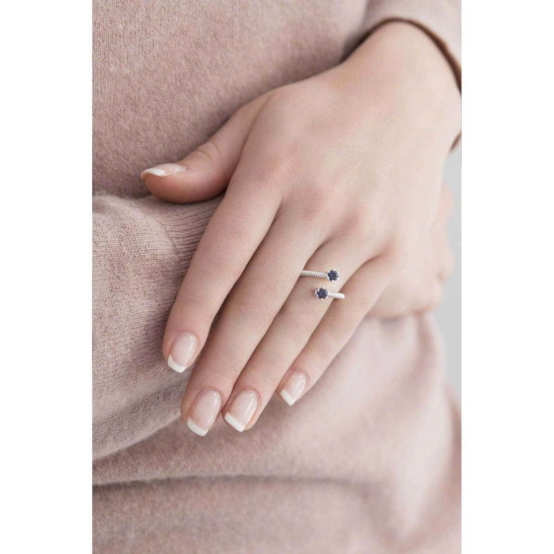 Bliss rings Silver Light woman 20061881 indosso