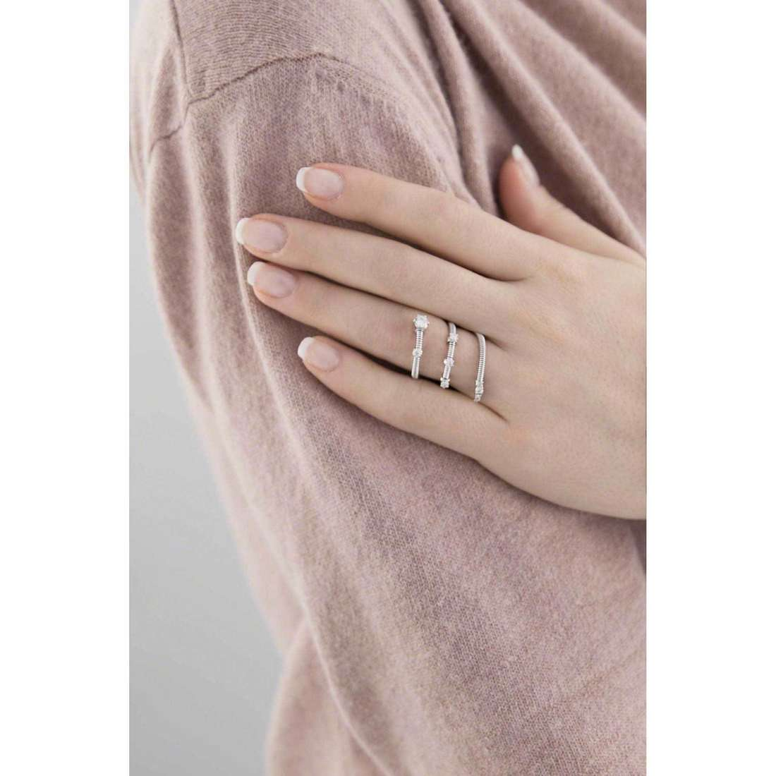 Bliss rings Silver Light woman 20061882 indosso