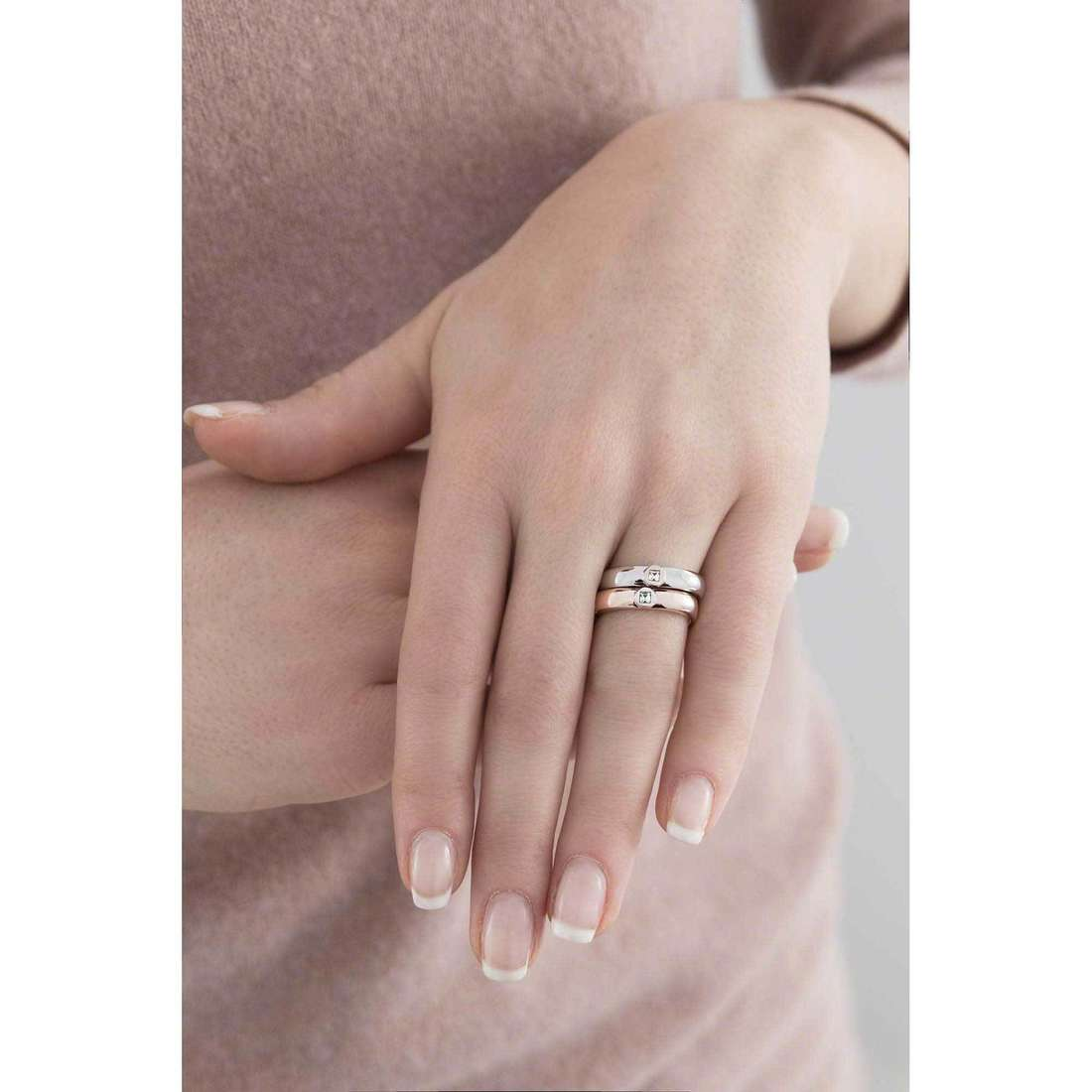 Breil rings Crossing Love woman TJ1558 indosso