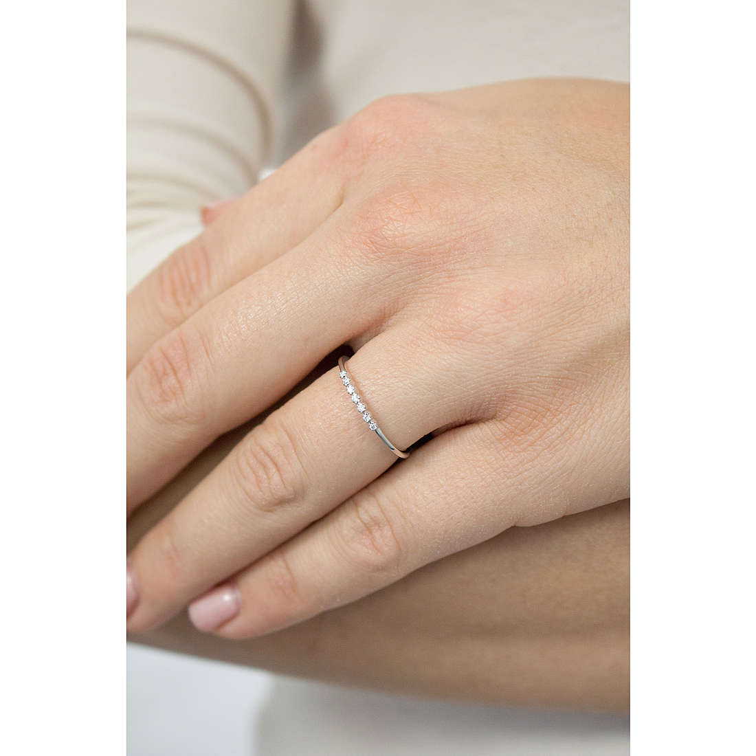 Comete rings Fedine woman ANB 1767 indosso