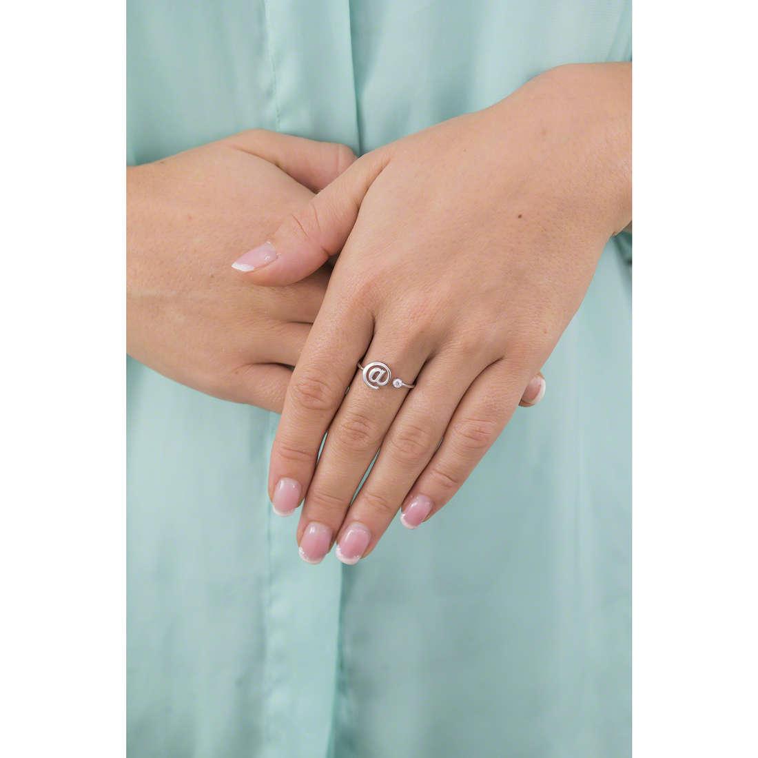 GioiaPura rings woman GPSRSAN2469 indosso
