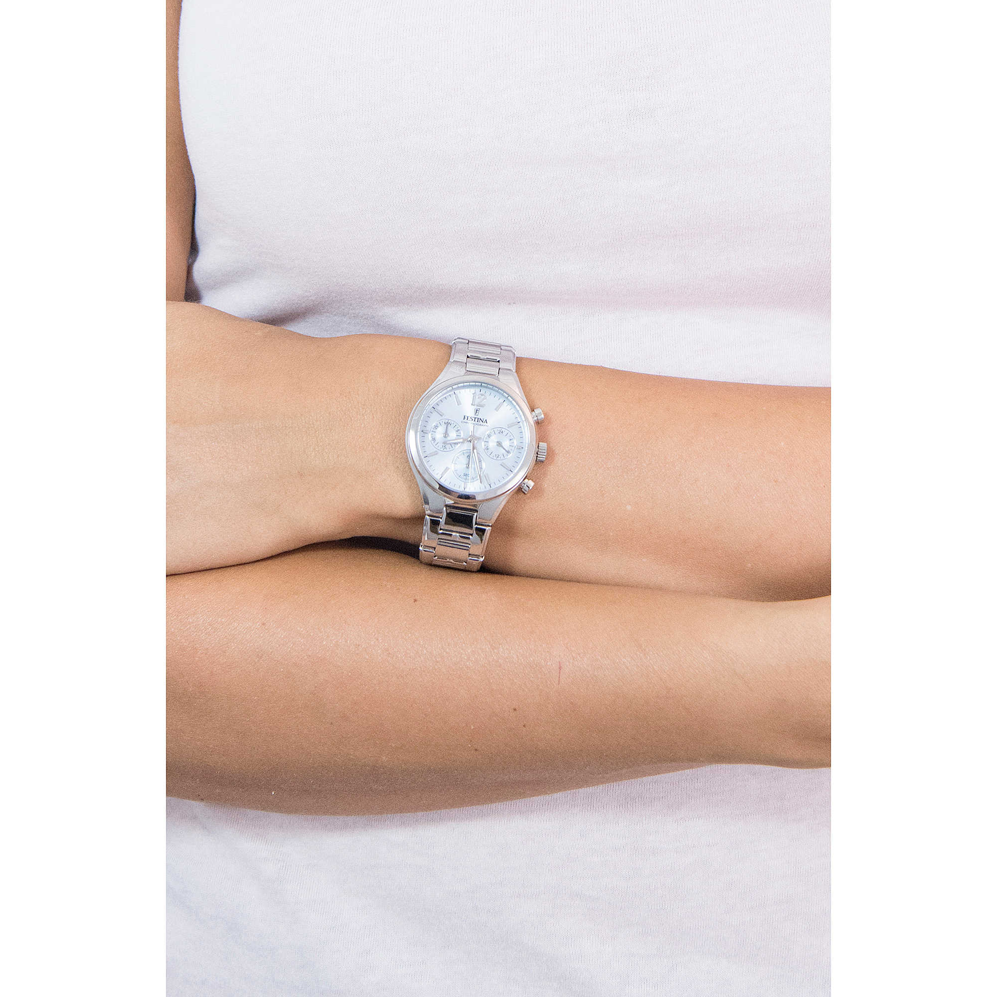F203913 Frau Chronograph Festina Uhr Boyfriend L3c4RqSAj5