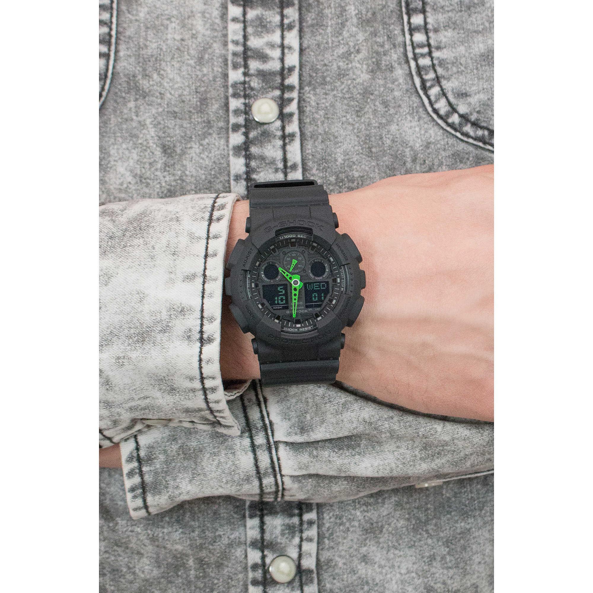 Uhr Multifunktions unisex Casio G SHOCK GA 100C 1A3ER