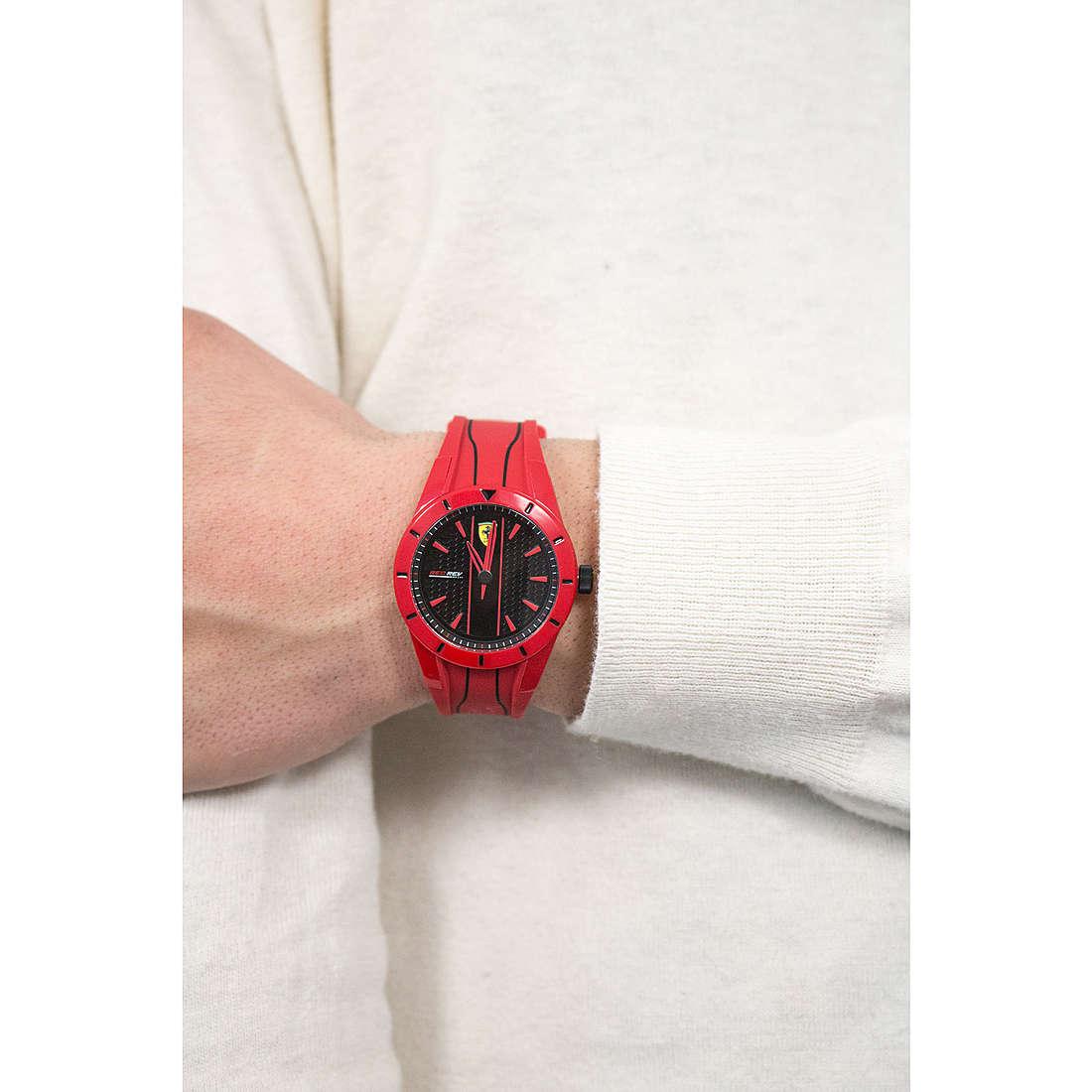 Uhr Nur Zeit Mann Scuderia Ferrari Redrev Fer0830494 Nur Zeit Scuderia Ferrari