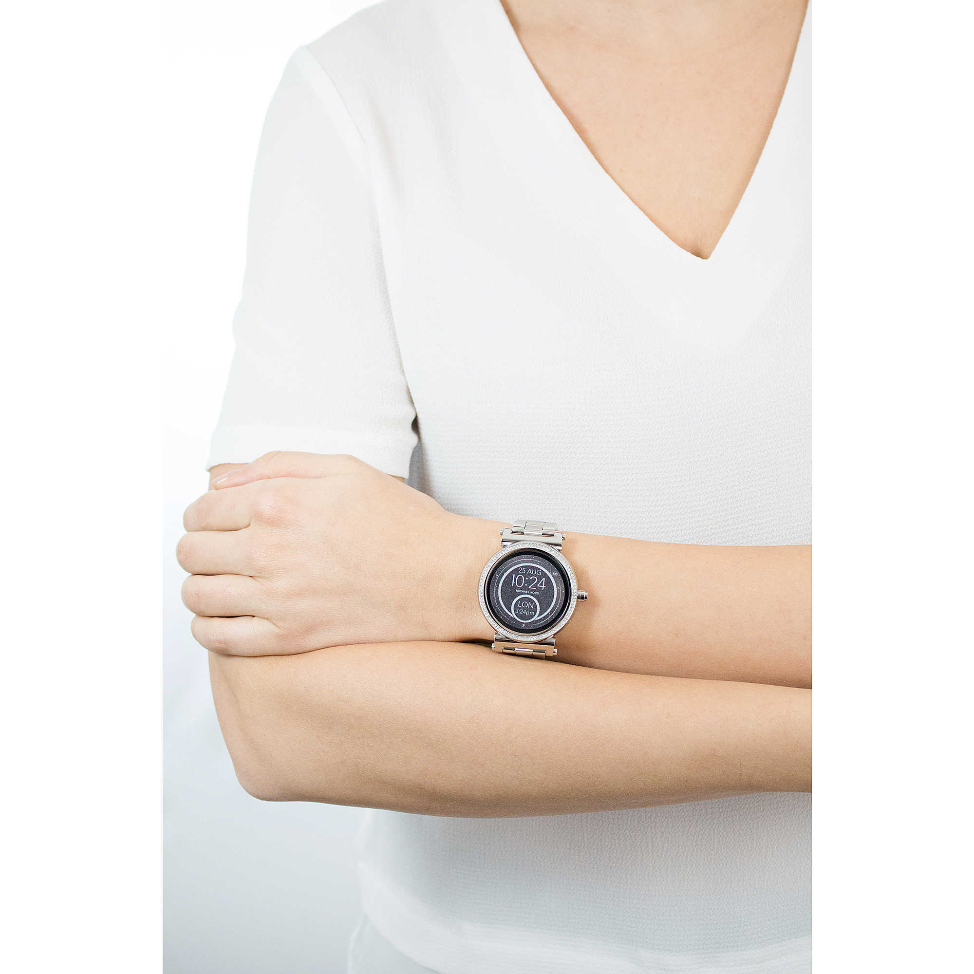 uhr smartwatch frau michael kors sofie mkt5020 smartwatches michael kors. Black Bedroom Furniture Sets. Home Design Ideas
