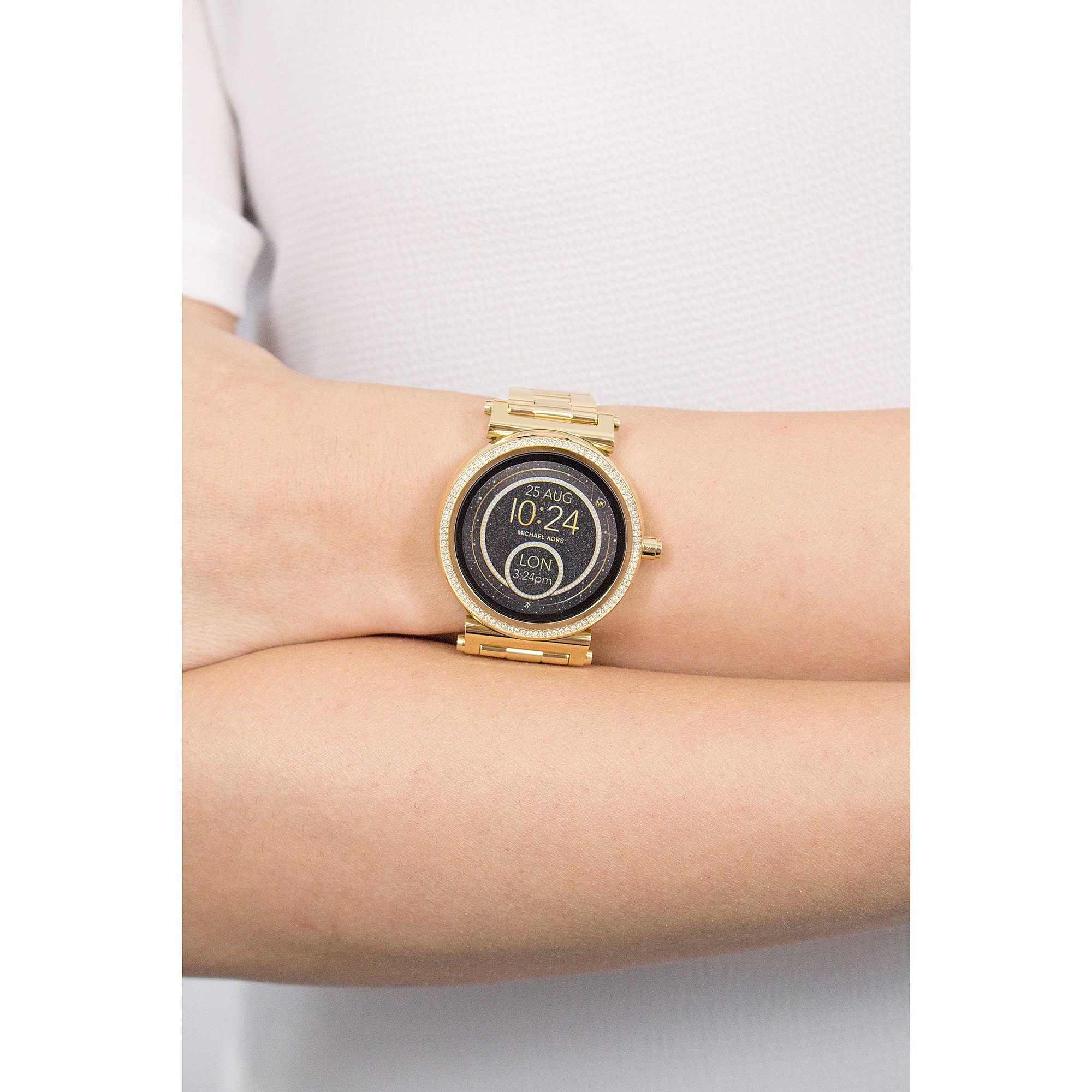 uhr smartwatch frau michael kors sofie mkt5021 smartwatches michael kors. Black Bedroom Furniture Sets. Home Design Ideas