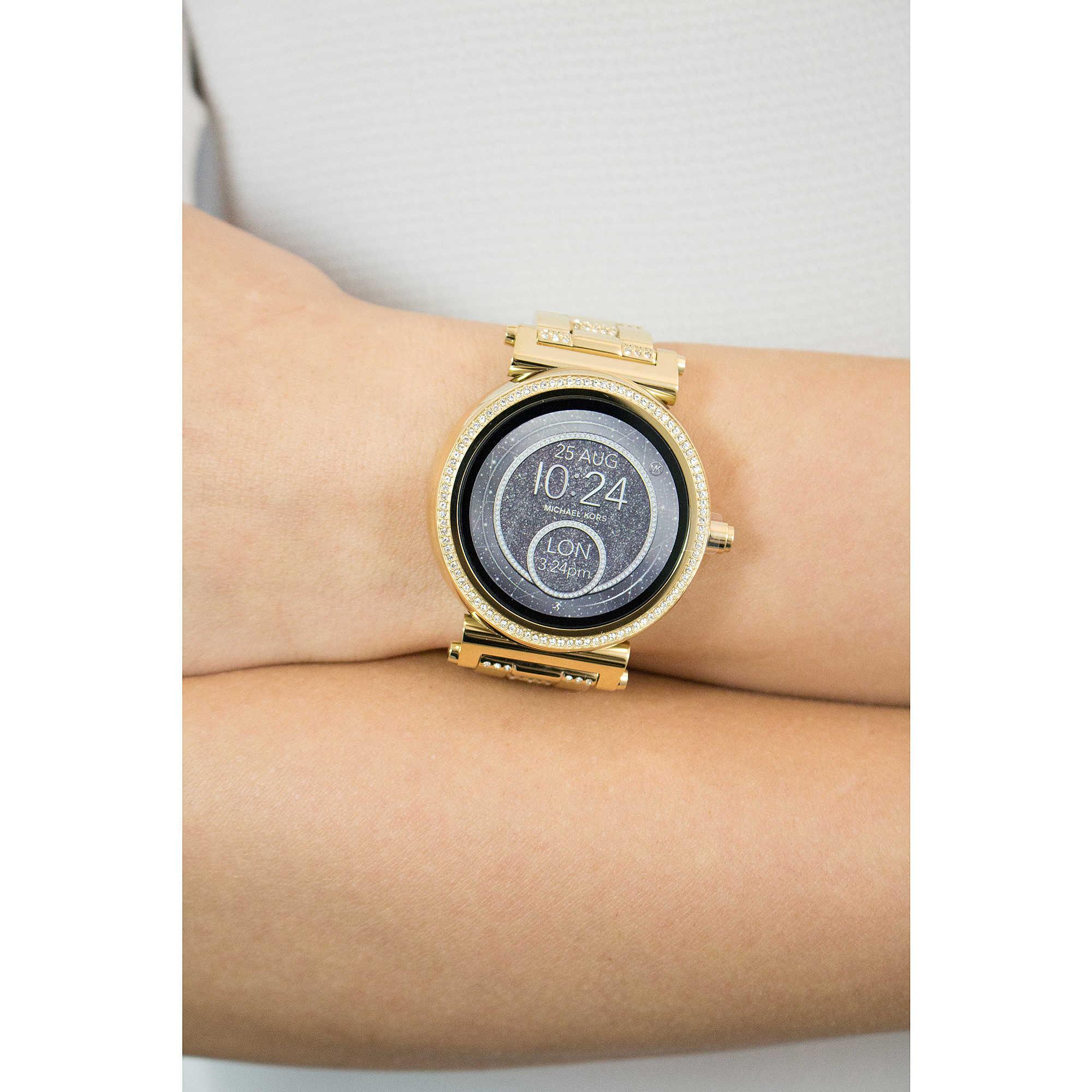 uhr smartwatch frau michael kors sofie mkt5023 smartwatches michael kors. Black Bedroom Furniture Sets. Home Design Ideas