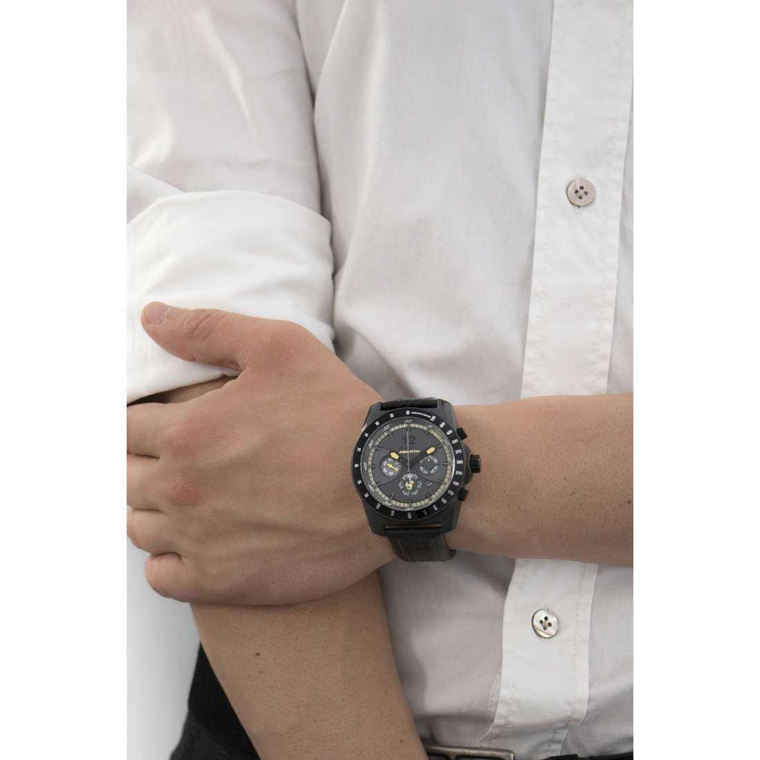 Breil chronographs Abarth man TW1250 indosso