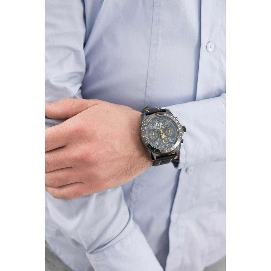 Breil chronographs Abarth man TW1362 indosso
