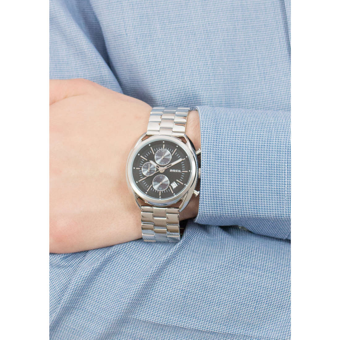 Breil chronographs Beaubourg Extension man TW1514 indosso