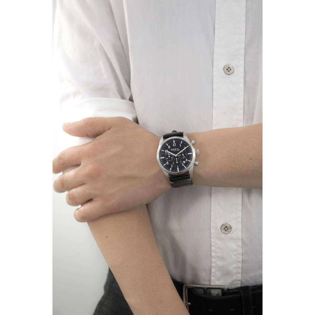 Breil chronographs Classic Elegance man EW0192 indosso