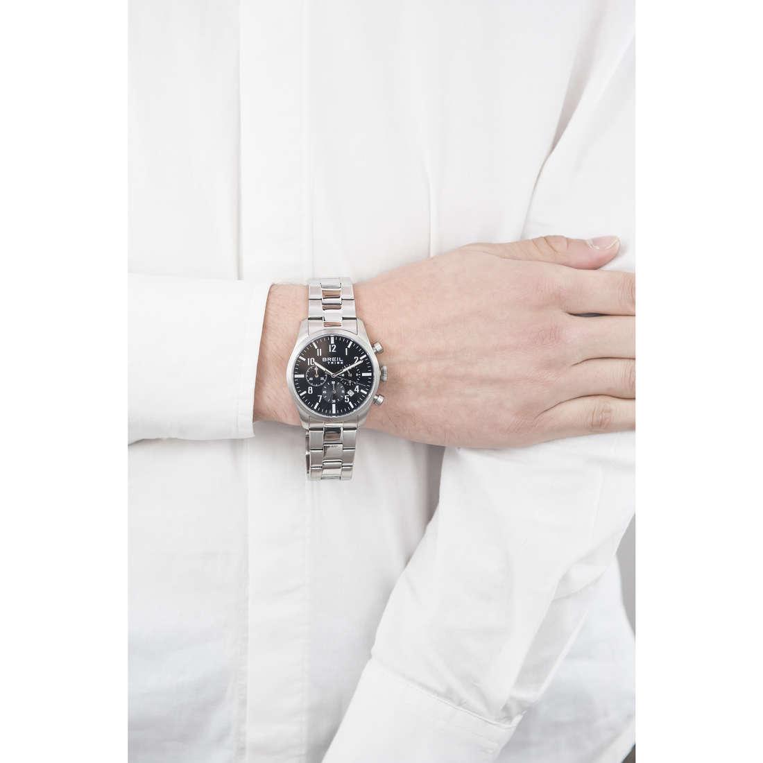 Breil chronographs Classic Elegance Extension man EW0227 indosso