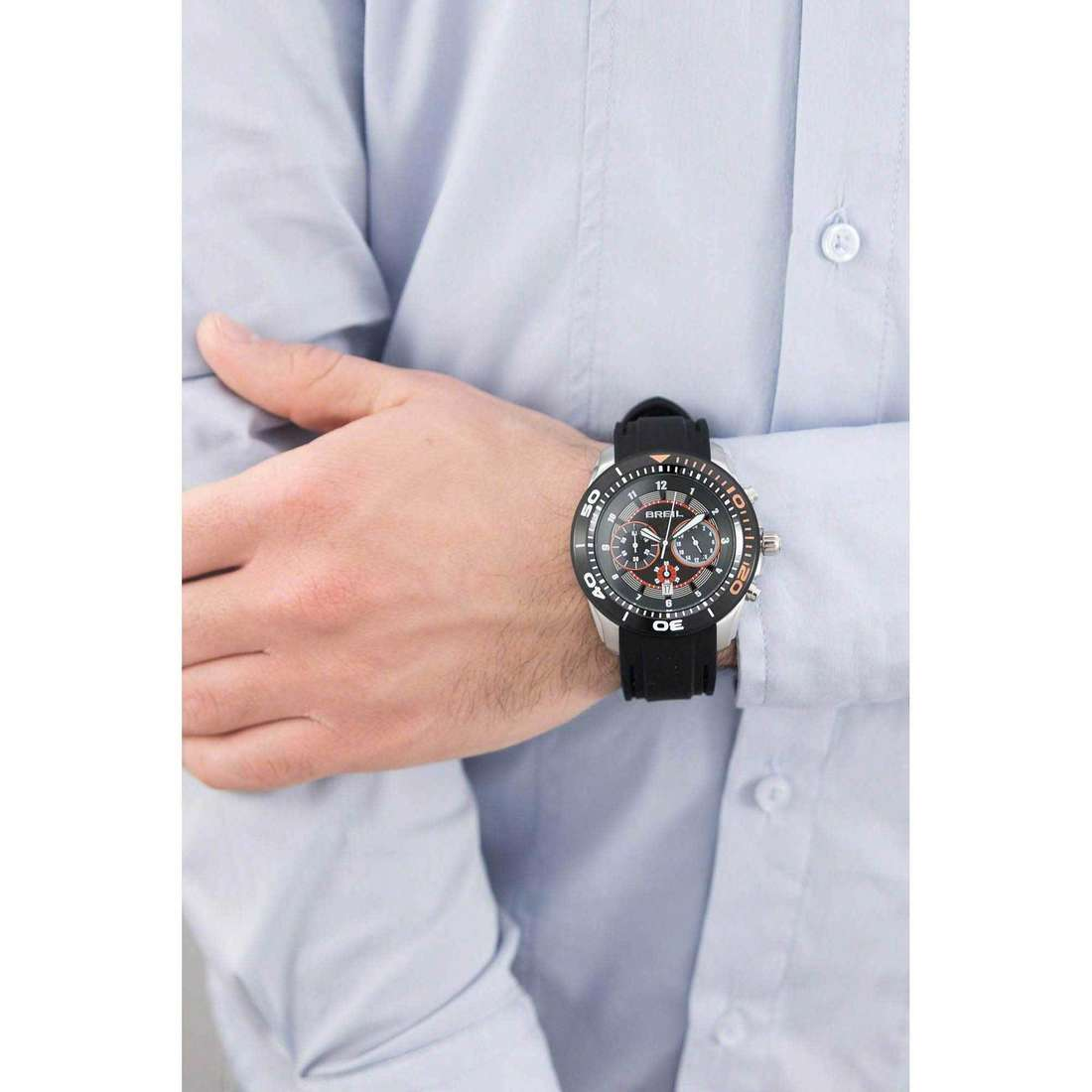 Breil chronographs Edge man TW1220 indosso
