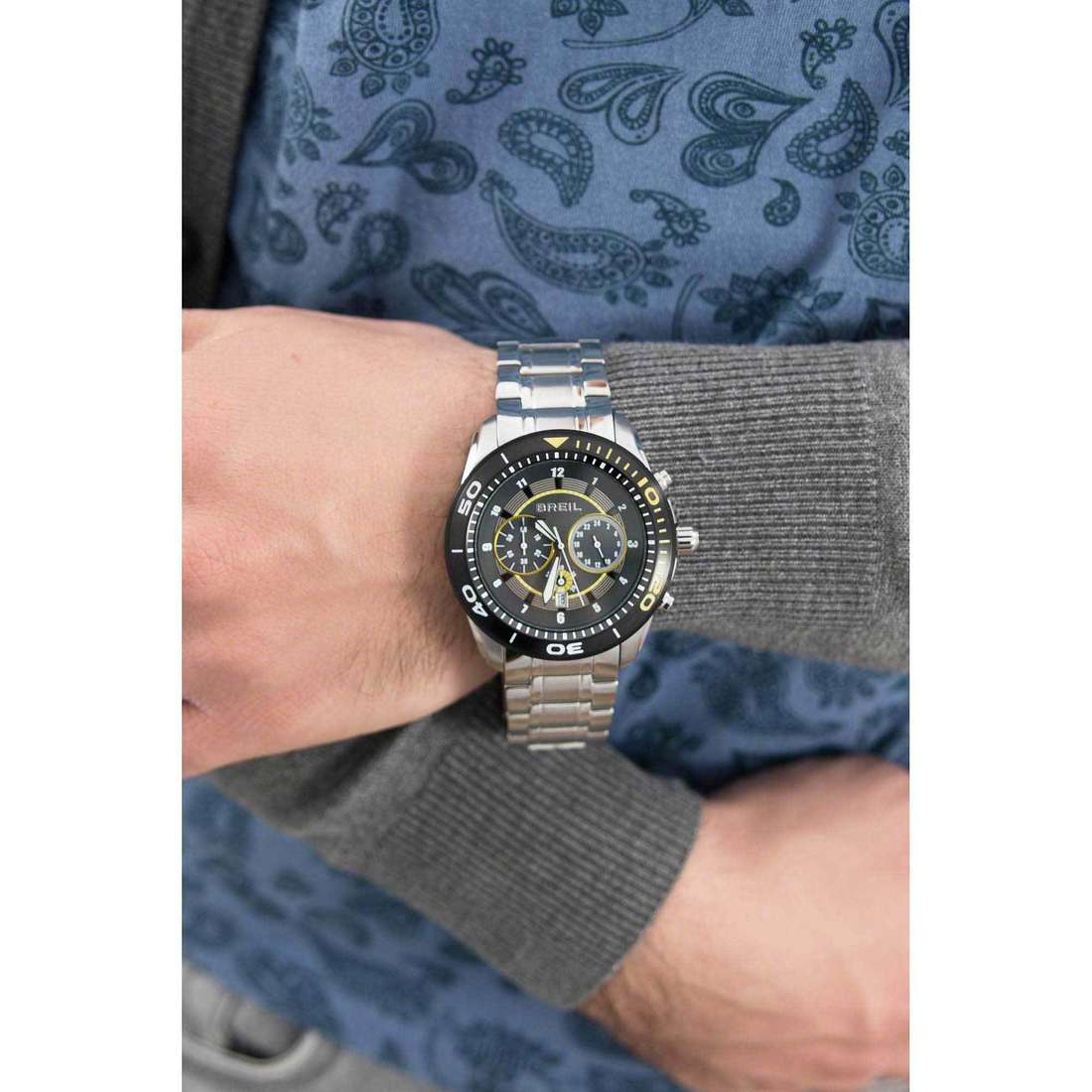 Breil chronographs Edge man TW1290 indosso