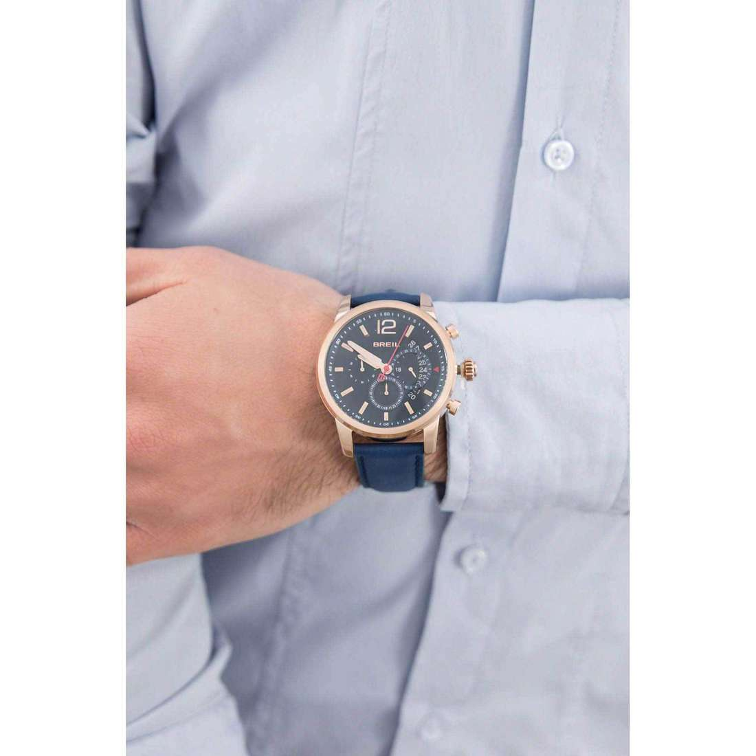 Breil chronographs Miglia man TW1373 indosso