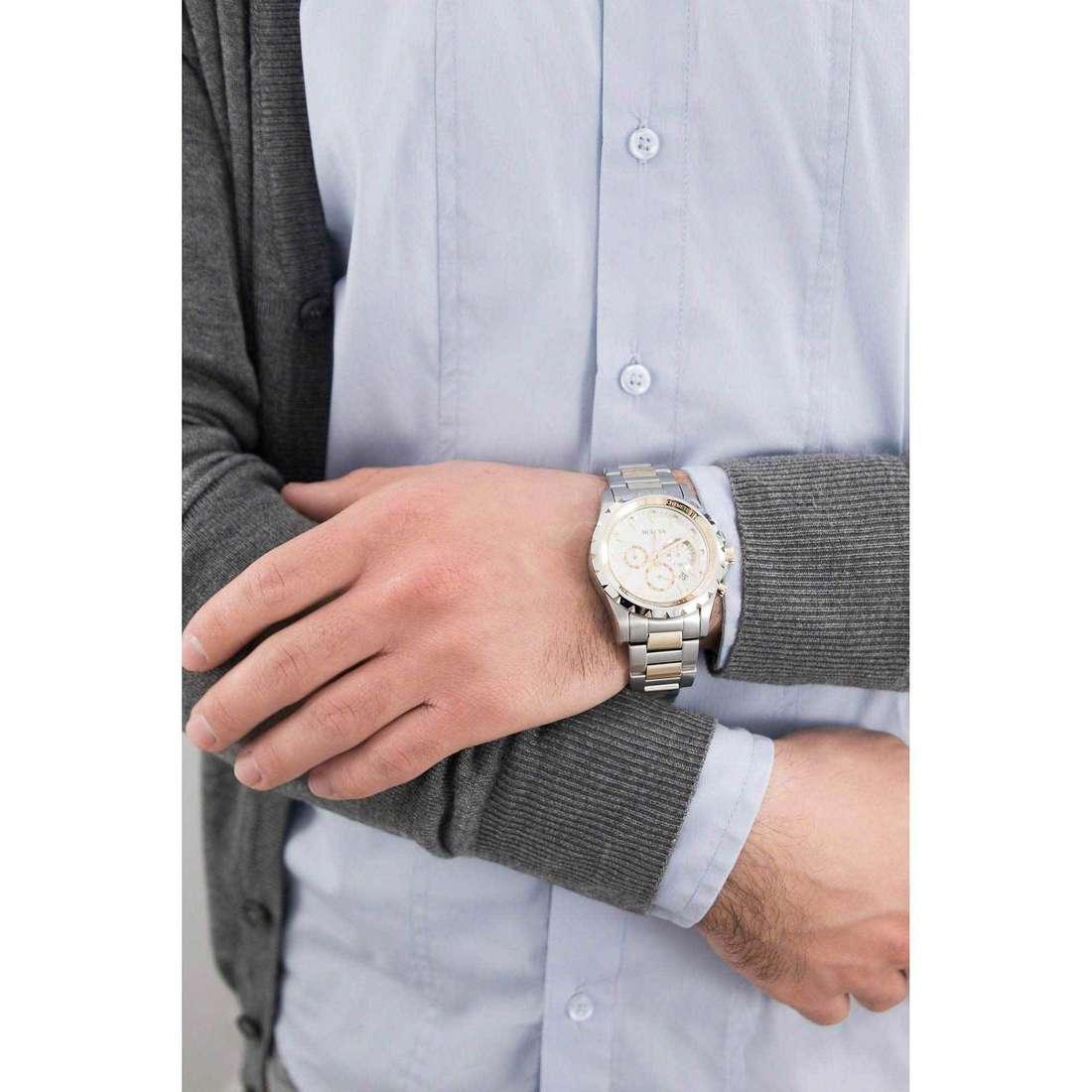 Bulova chronographs Marine Star man 98B014 indosso