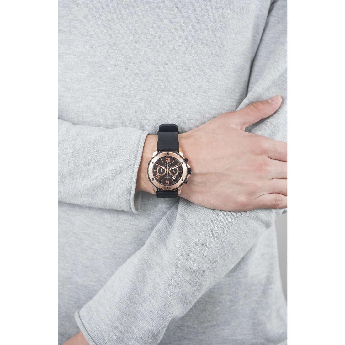 Bulova chronographs Marine Star man 98B104 indosso