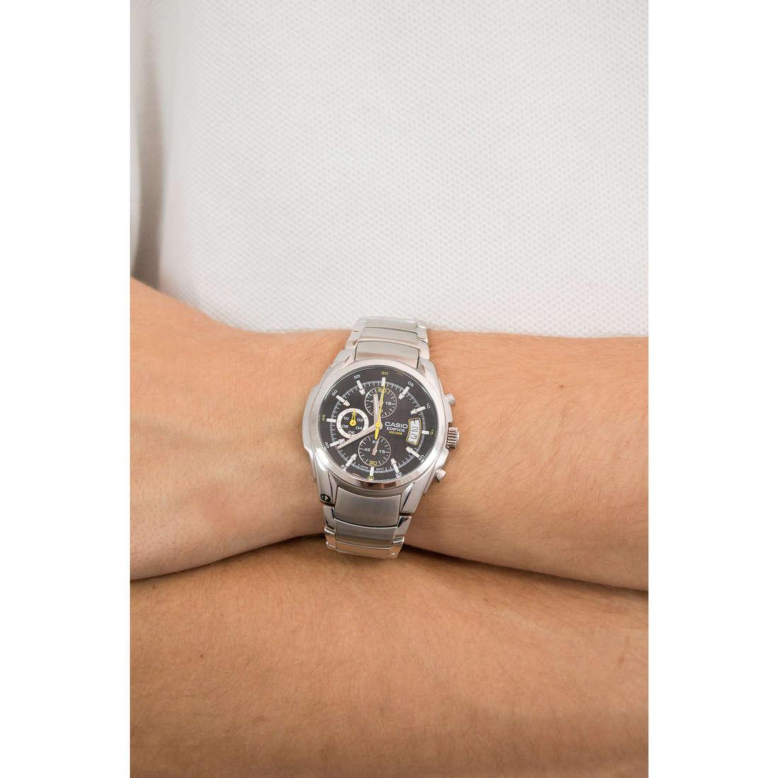 Casio chronographs Edifice man EF-512D-1AVEF photo wearing