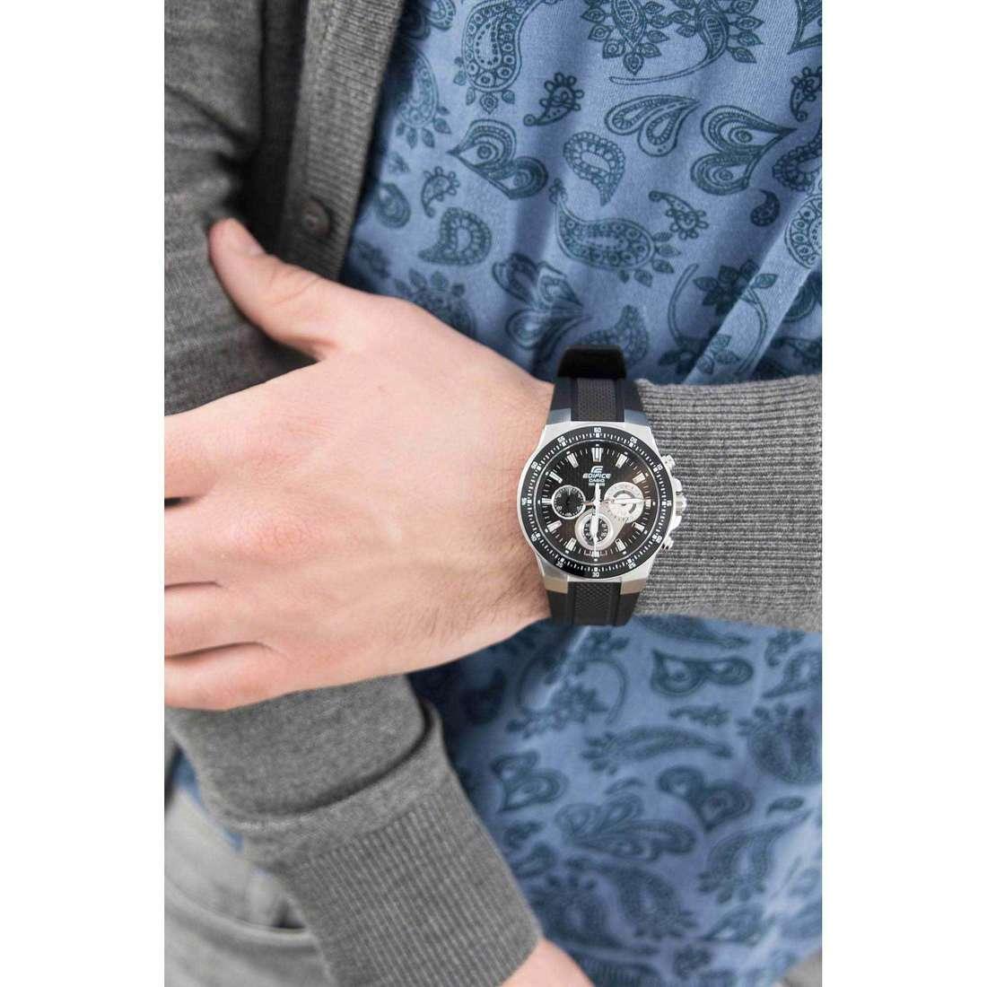 Casio chronographs Edifice man EF-552-1AVEF photo wearing