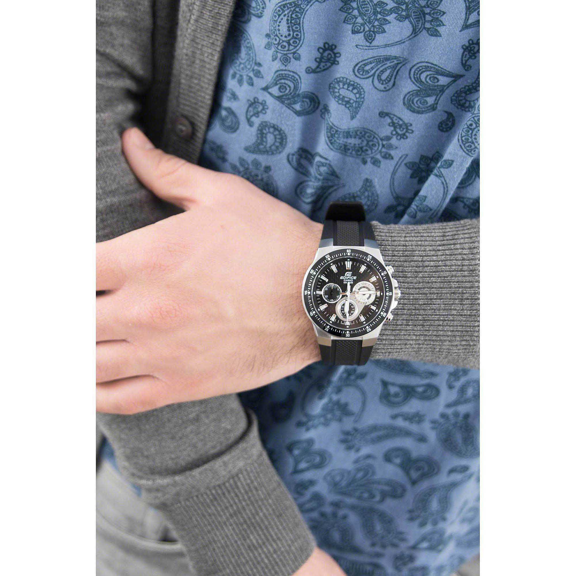 59fa9bc0745d watch chronograph man Casio EDIFICE EF-552-1AVEF chronographs Casio