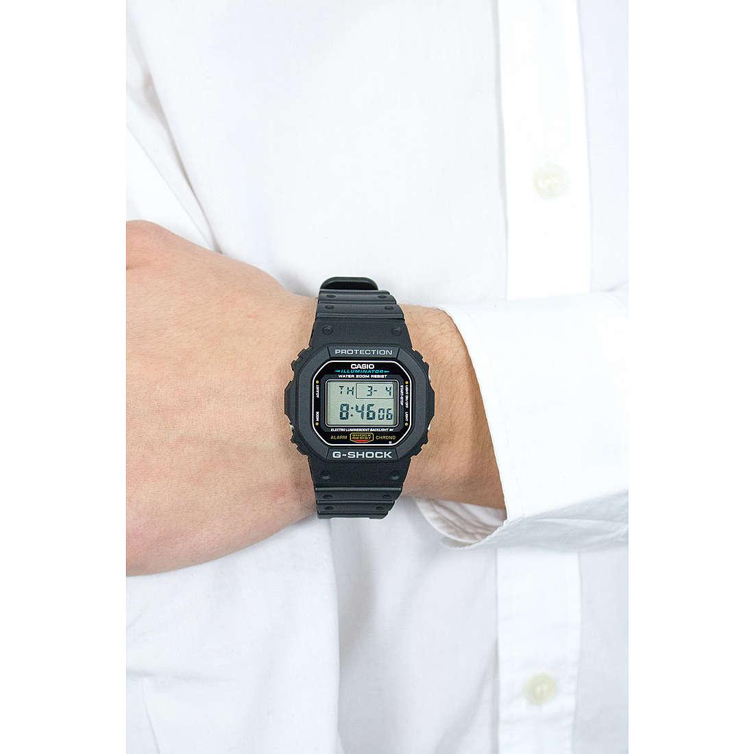 Casio digitals G-Shock man DW-5600E-1VER photo wearing