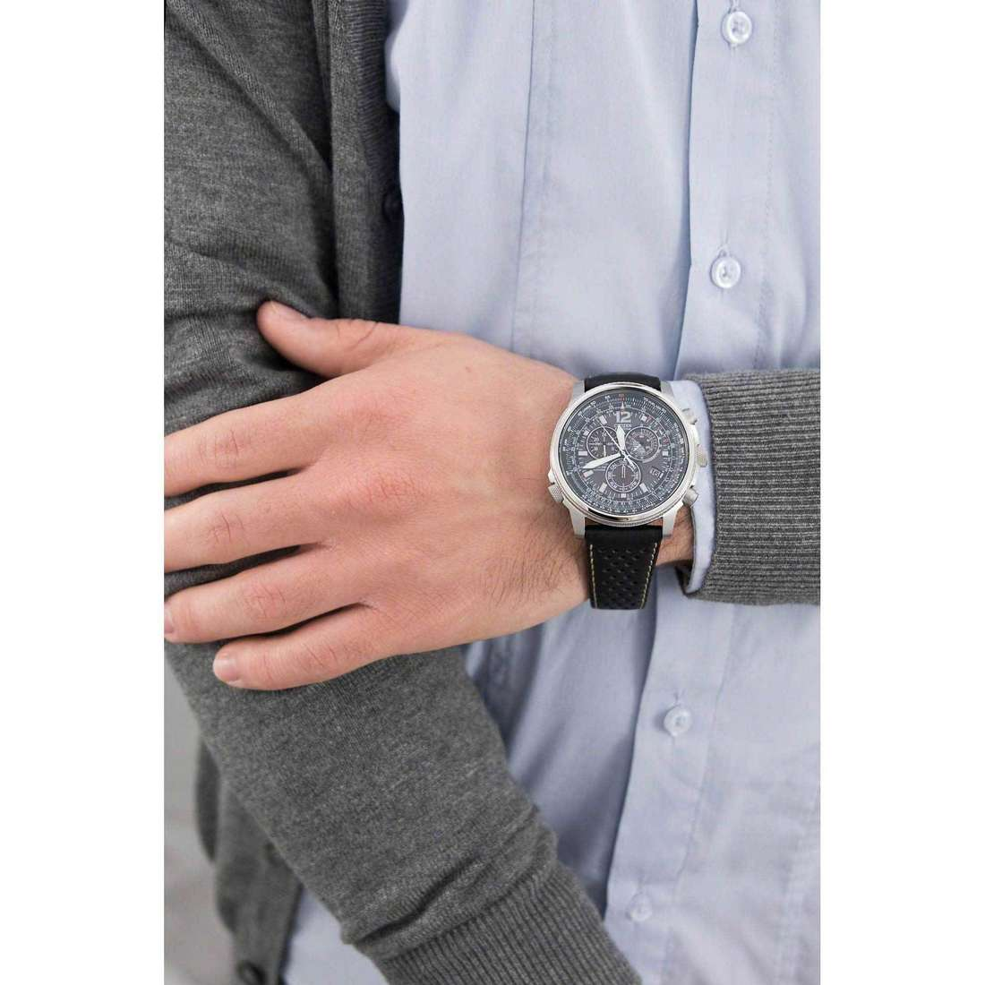Citizen chronographs Radio Controllati man AS4020-36E indosso
