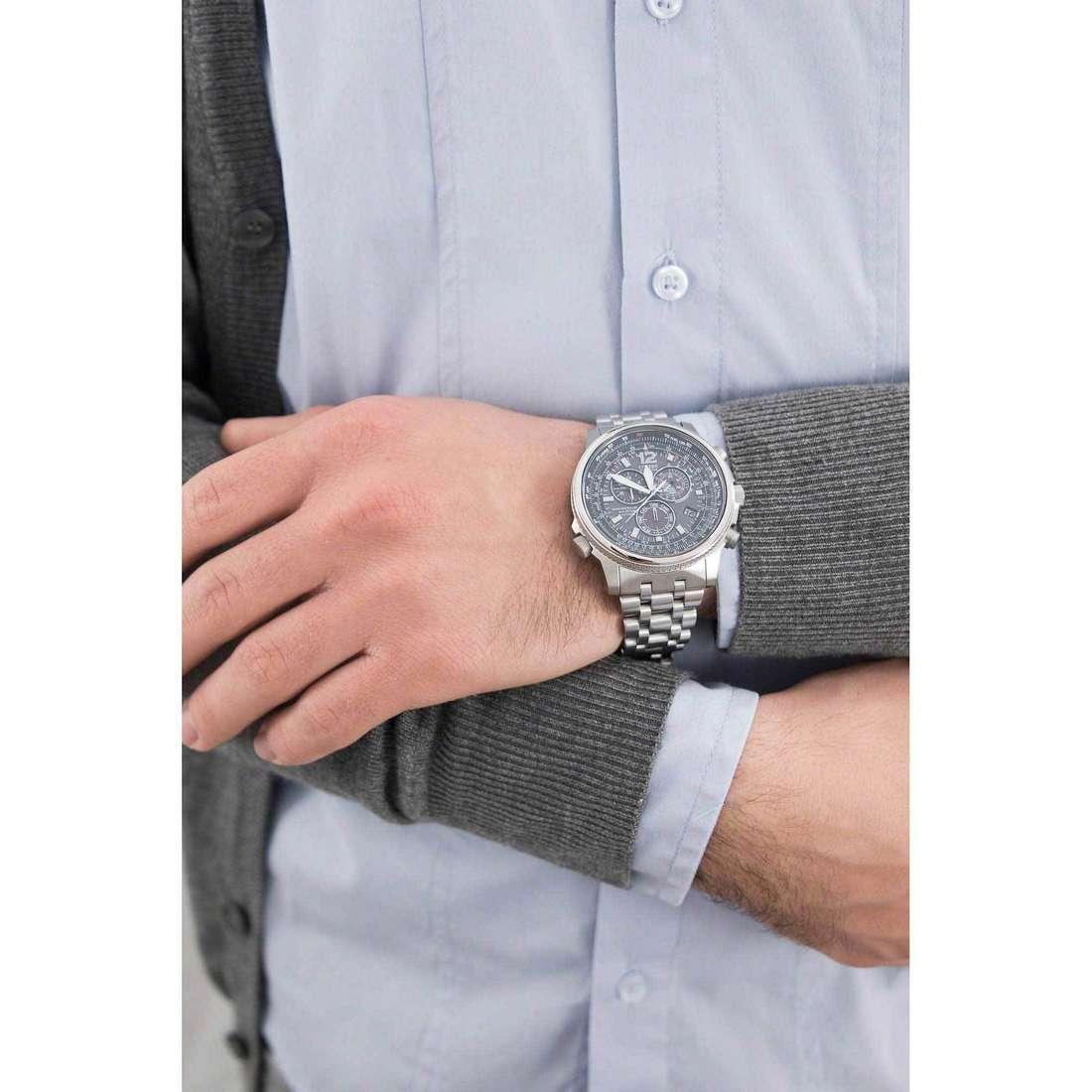 Citizen chronographs Radio Controllati man AS4020-52E indosso