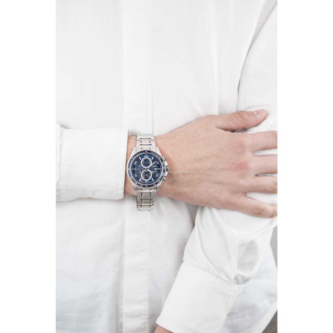Citizen chronographs Super Titanio man CA0345-51L indosso