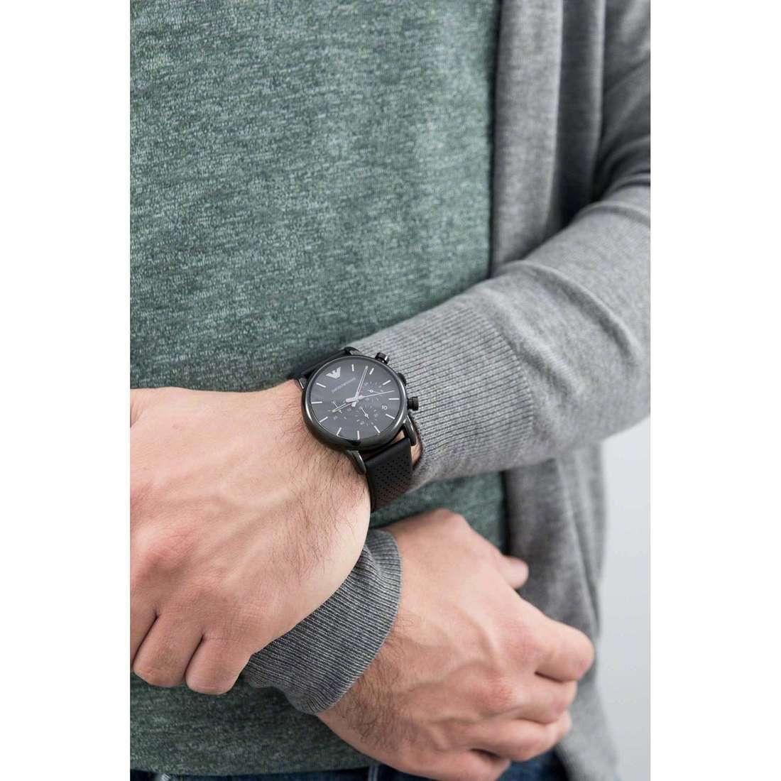 Emporio Armani chronographs man AR1737 indosso