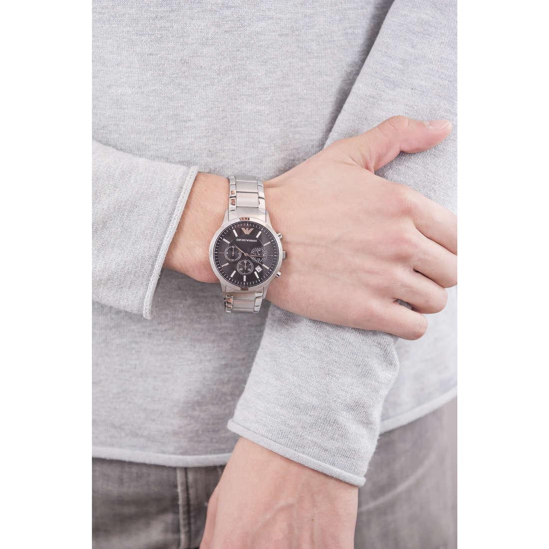 Emporio Armani chronographs man AR2434 indosso