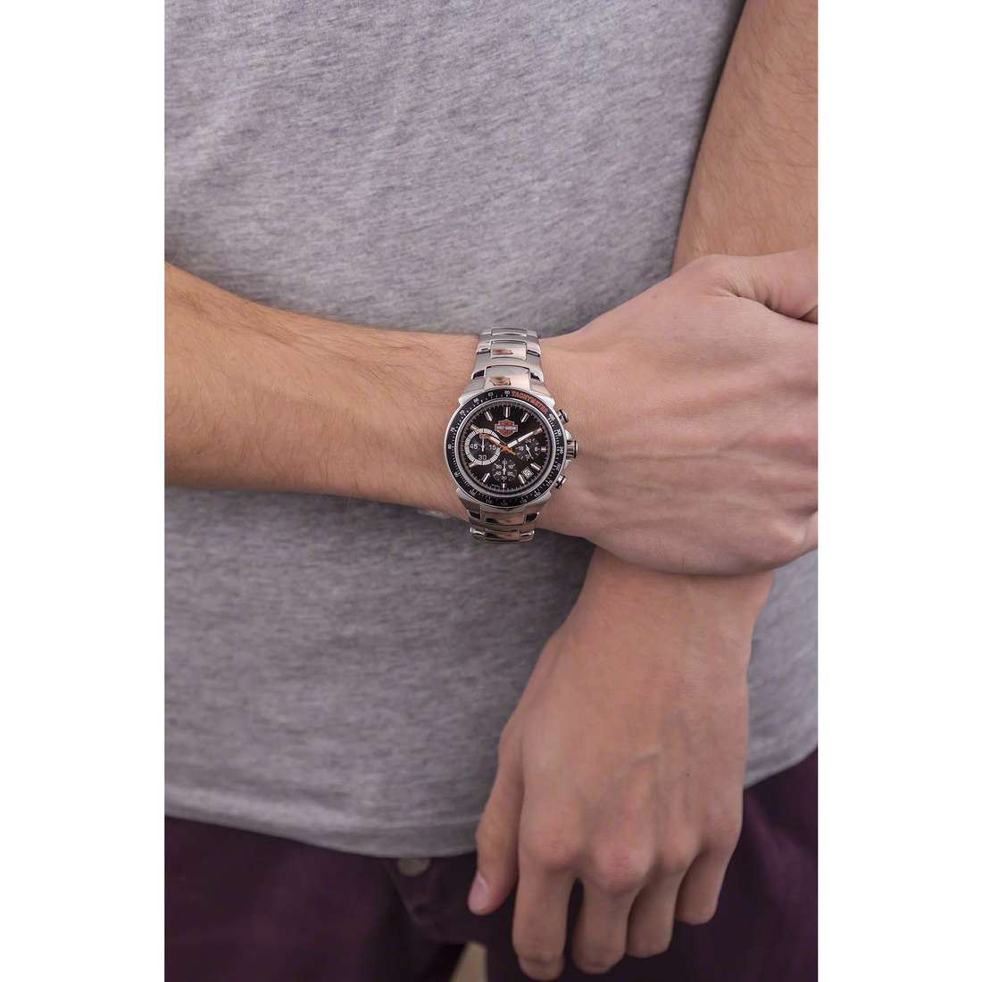 Harley Davidson chronographs man 78B113 photo wearing