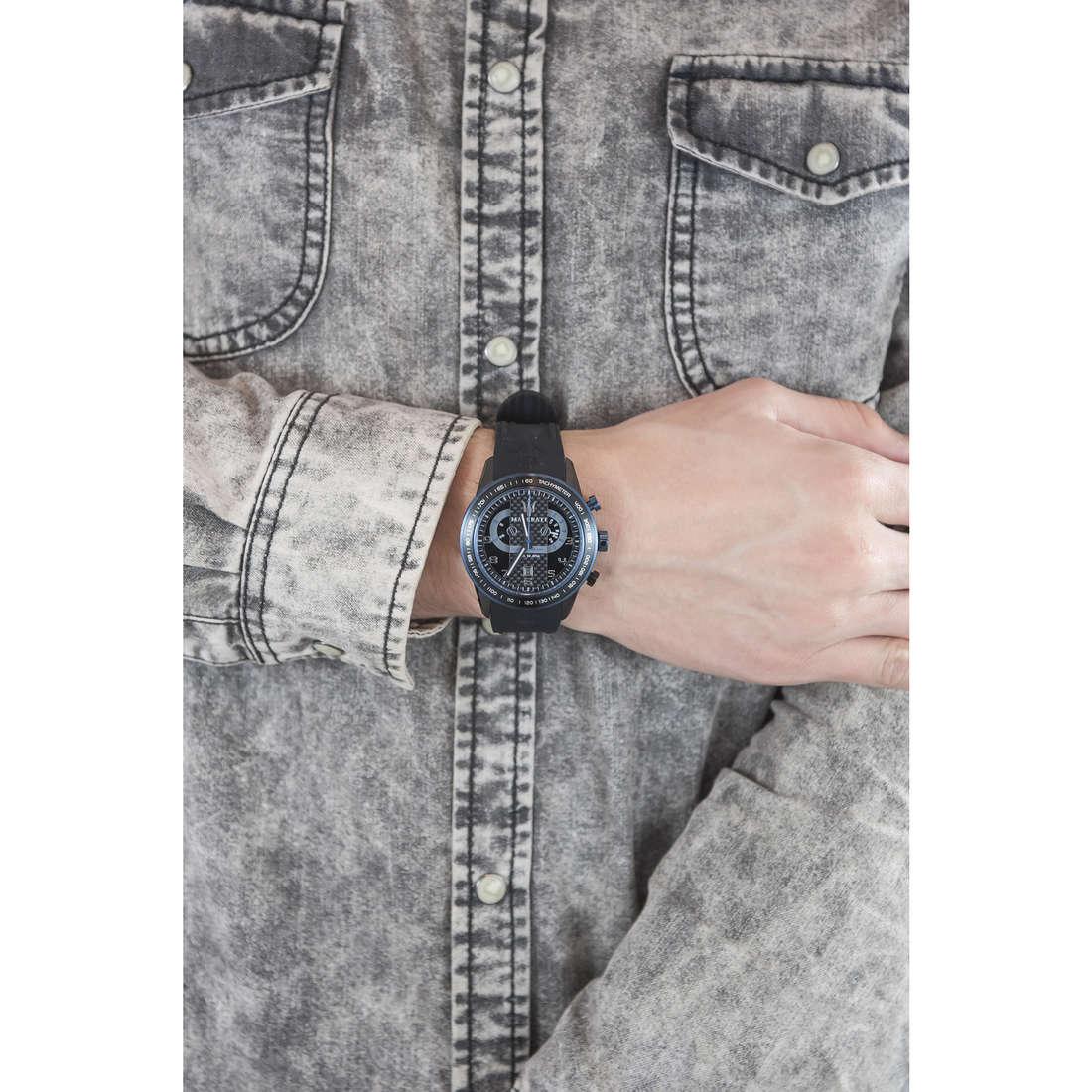 Maserati chronographs Corsa man R8871610002 indosso