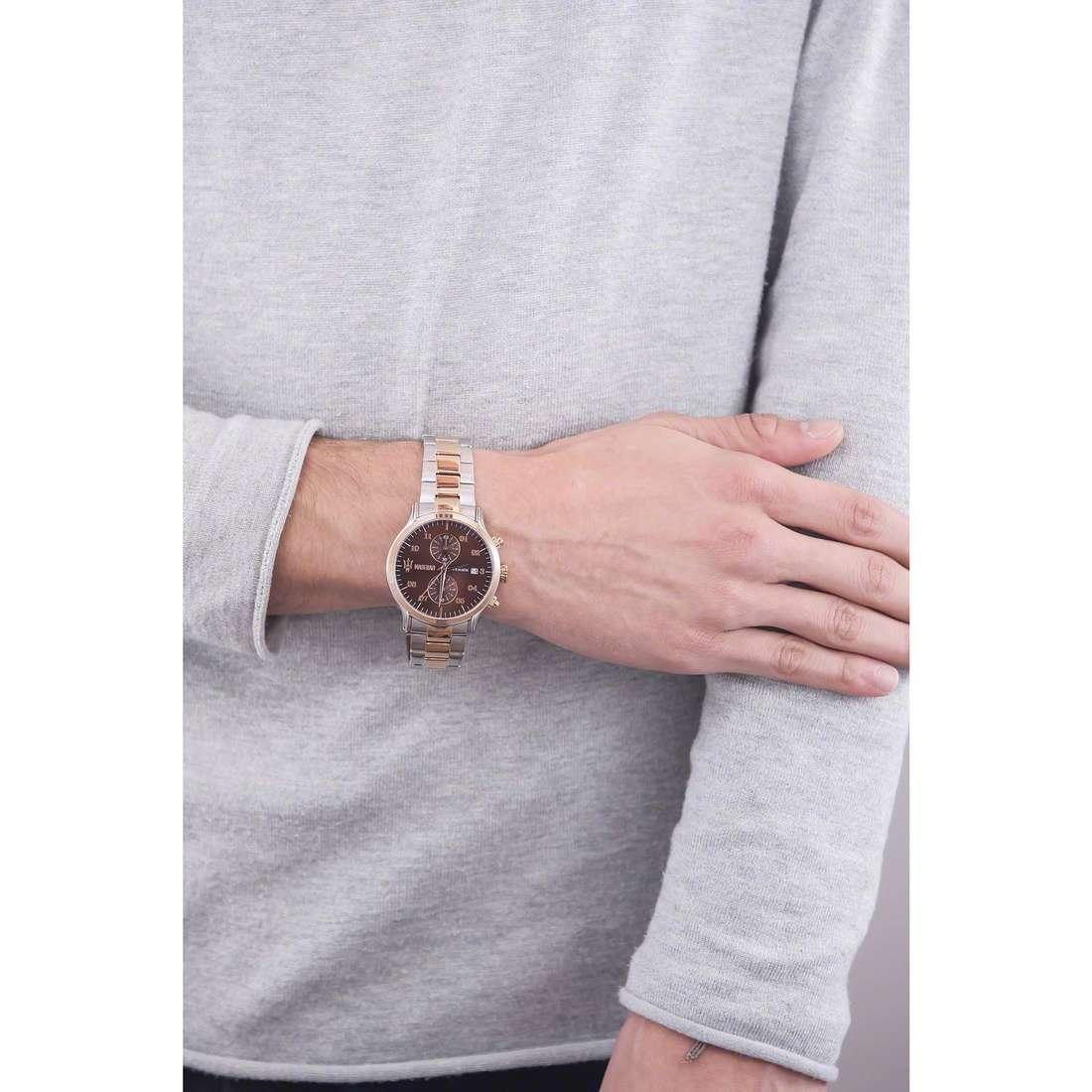 Maserati chronographs Epoca man R8873618001 indosso