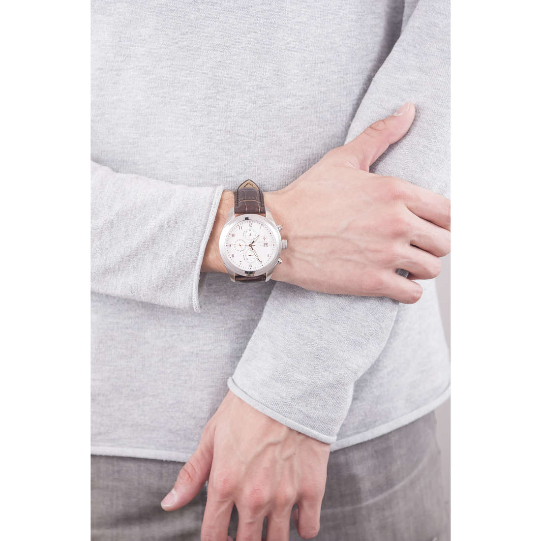 Maserati chronographs Traguardo man R8871612003 indosso