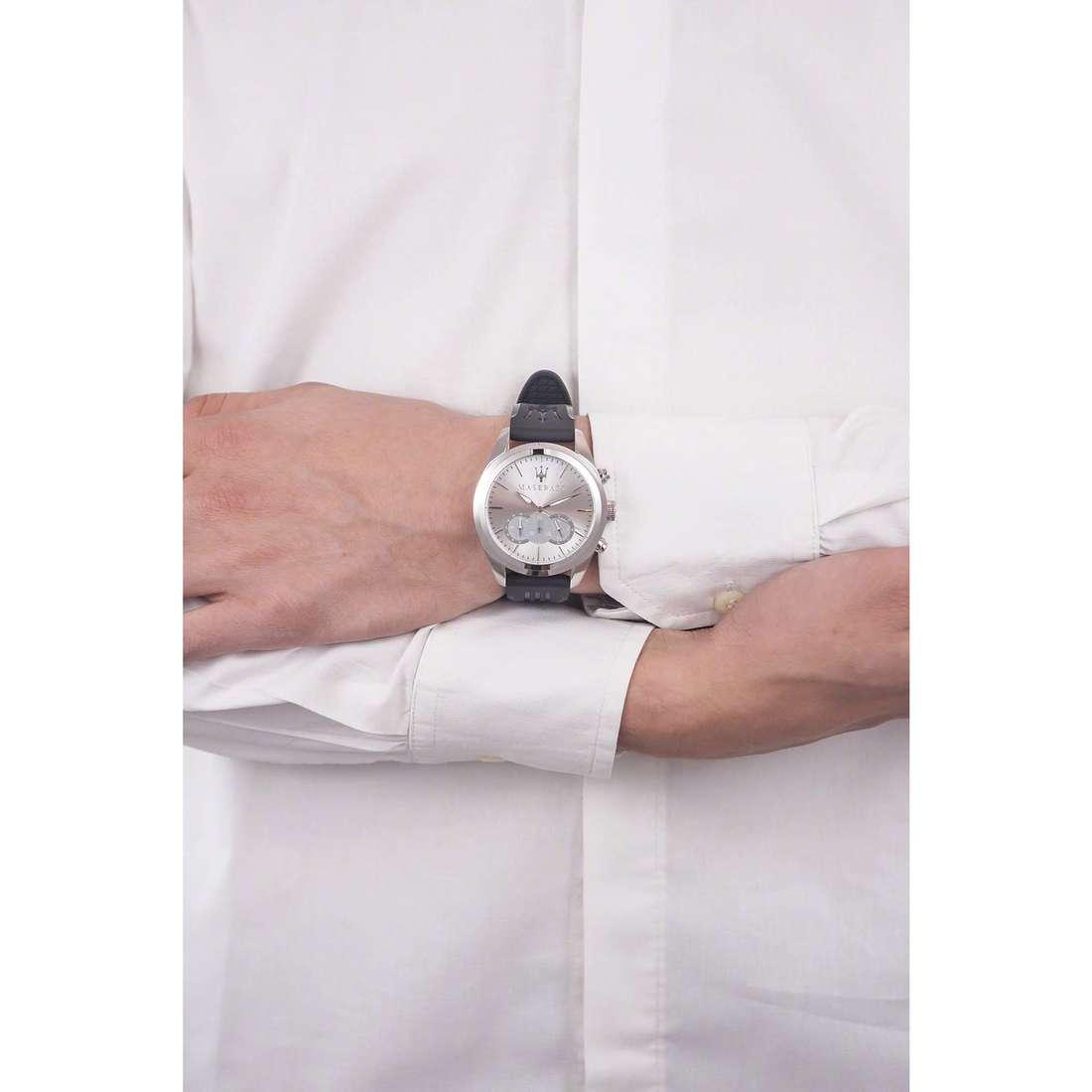 Maserati chronographs Traguardo man R8871612012 indosso