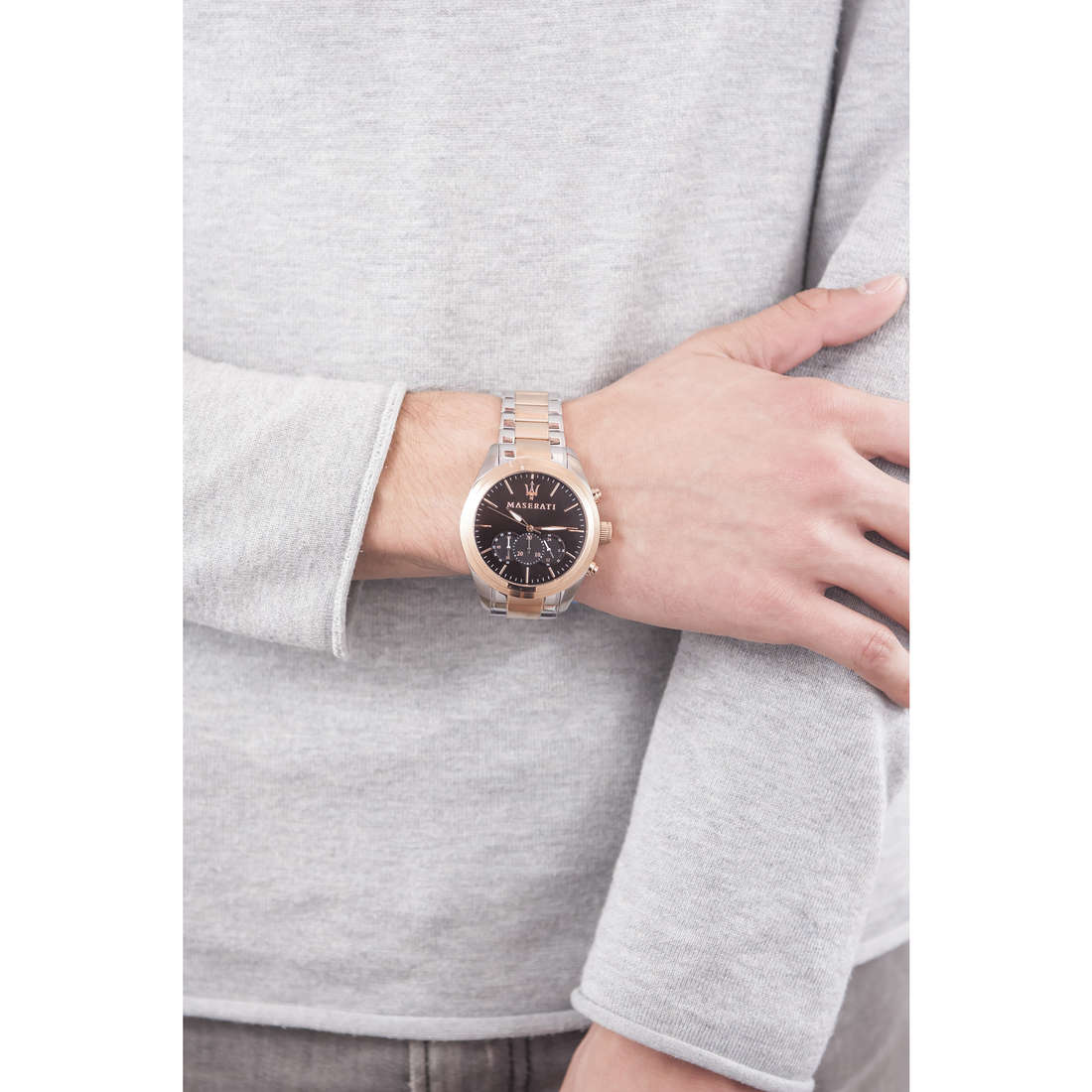 Maserati chronographs Traguardo man R8873612003 indosso