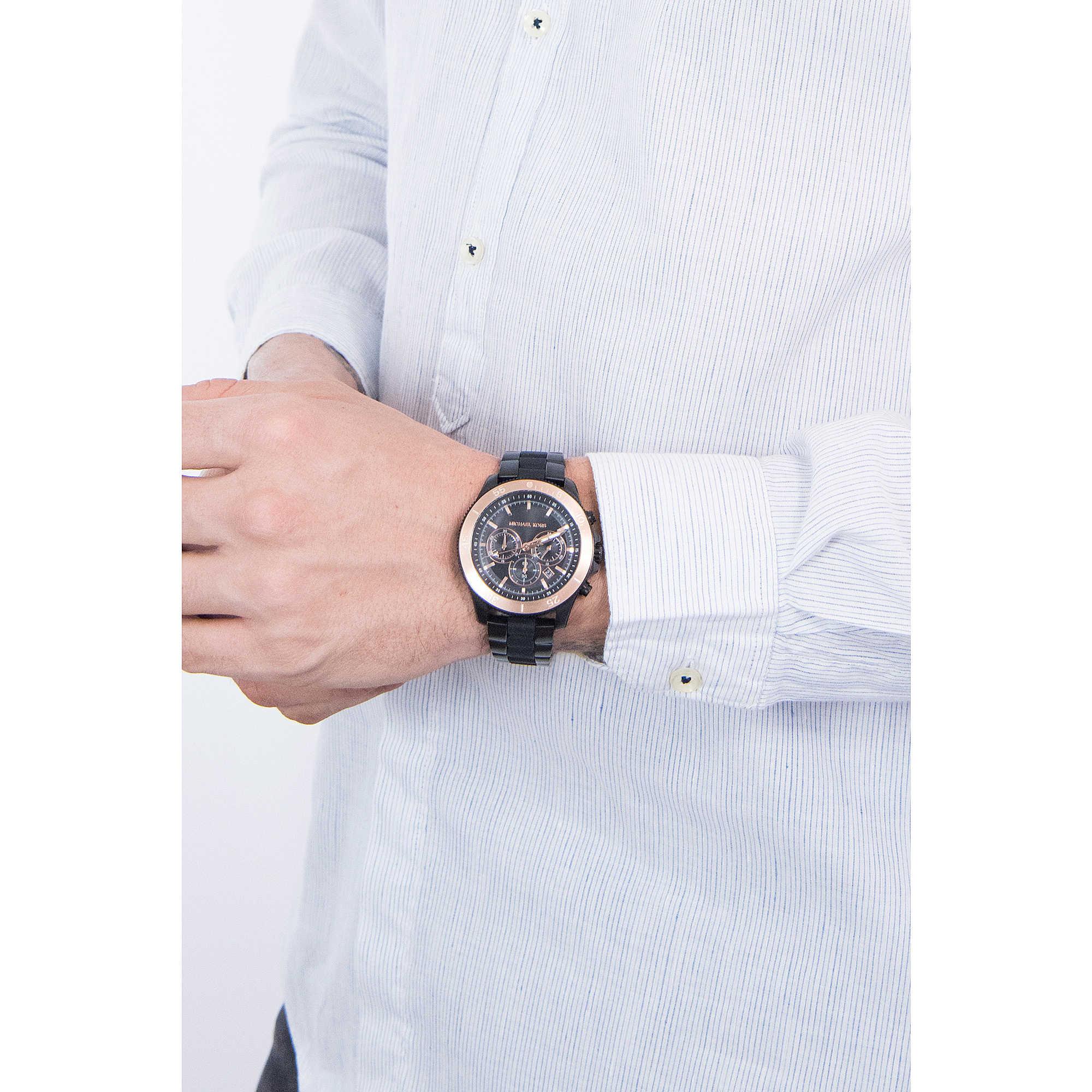 4b4d01aa625 watch chronograph man Michael Kors Theroux MK8666 chronographs ...