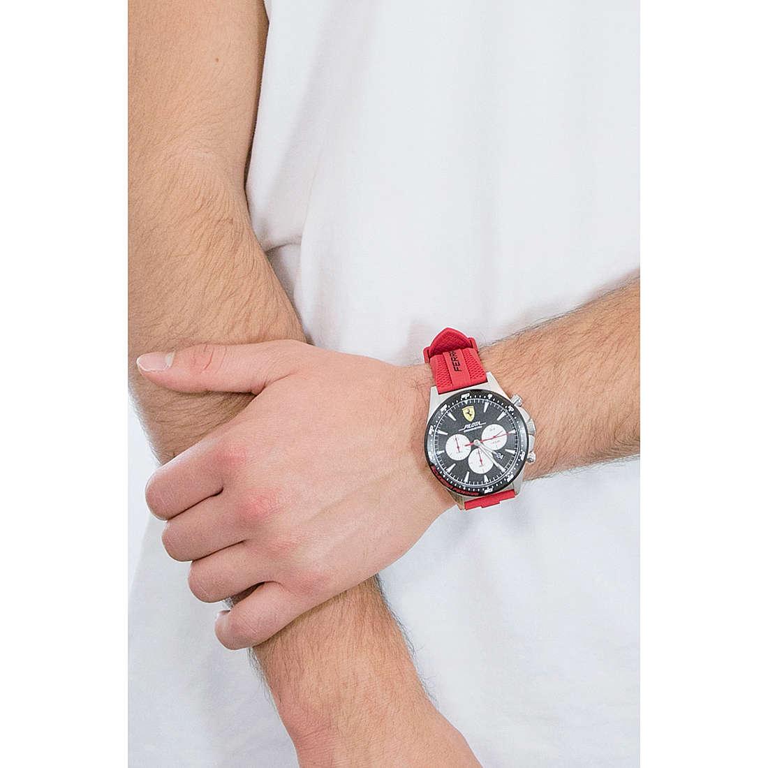 Watch Chronograph Man Scuderia Ferrari Pilota Fer0830596 Chronographs Scuderia Ferrari