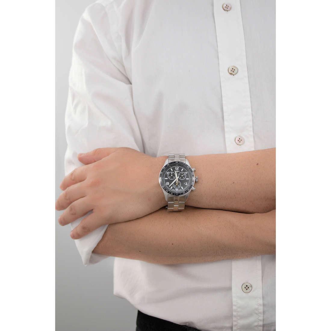 Timex chronographs Kaleidoscope man T2P041 indosso