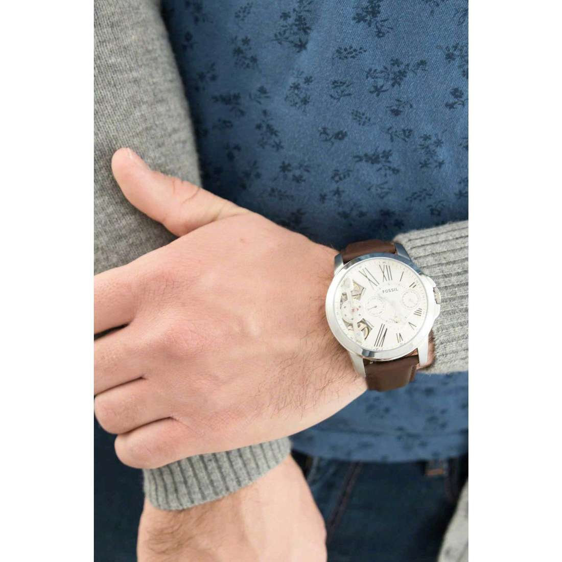 Fossil mechanical Grant man ME1144 indosso