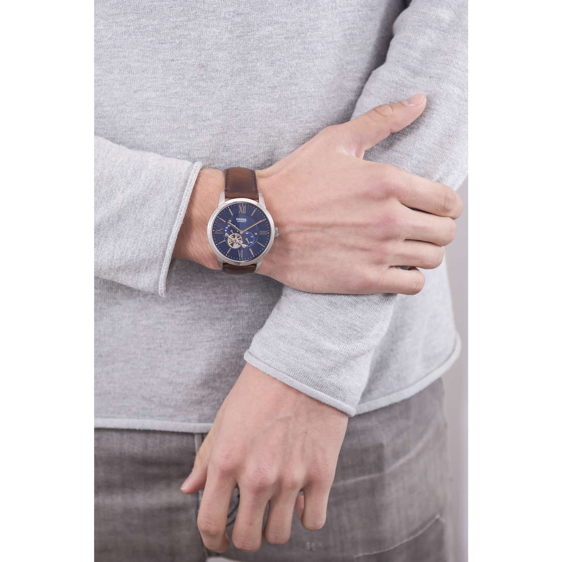 Fossil mechanical Townsman man ME3110 indosso