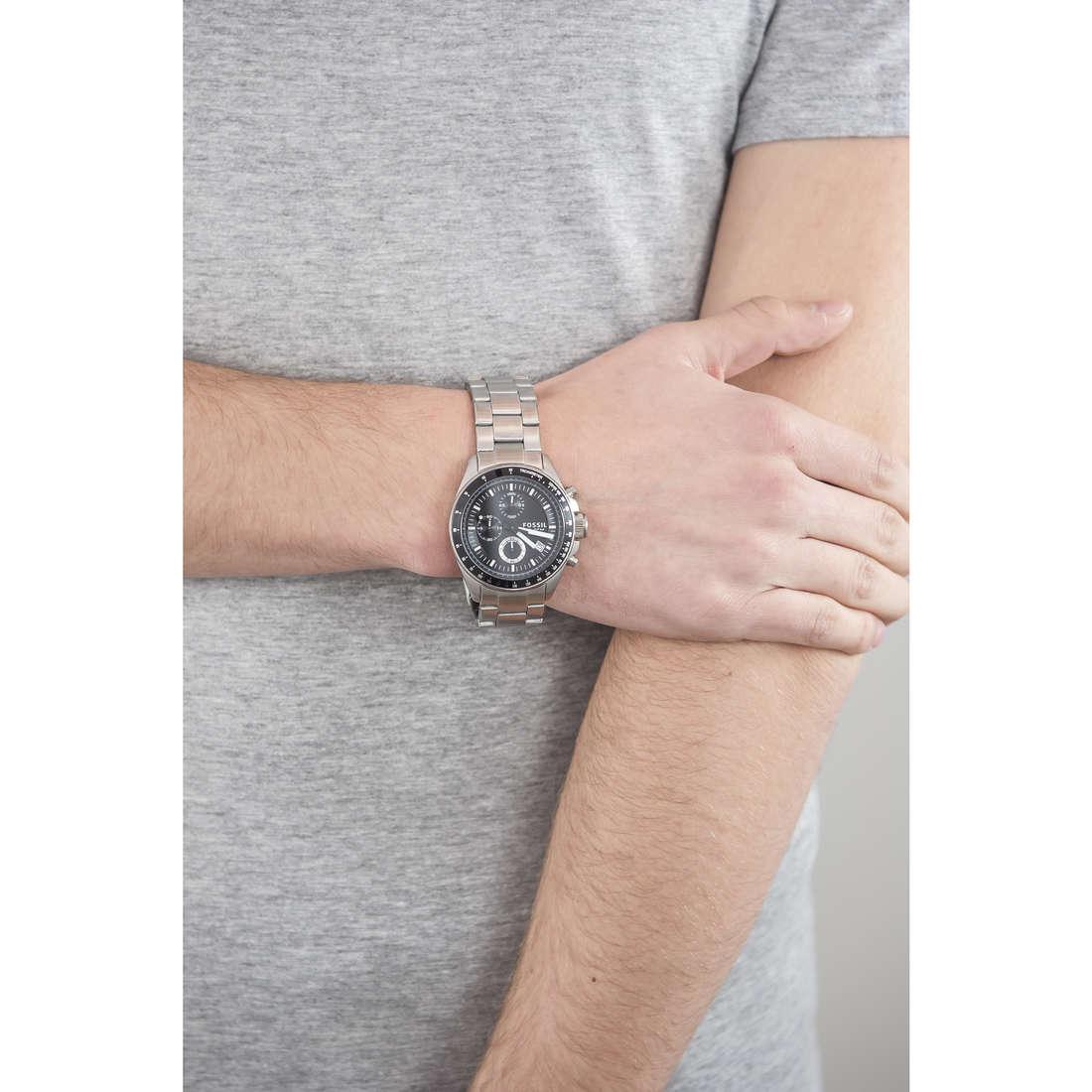 Fossil chronographs man CH2600IE indosso