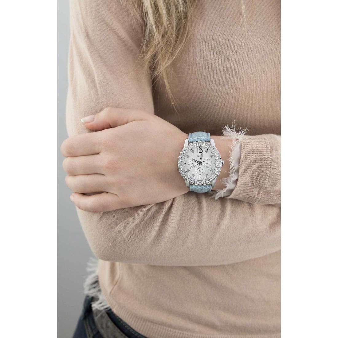 Guess multifunction Dazzler woman W0336L7 photo wearing