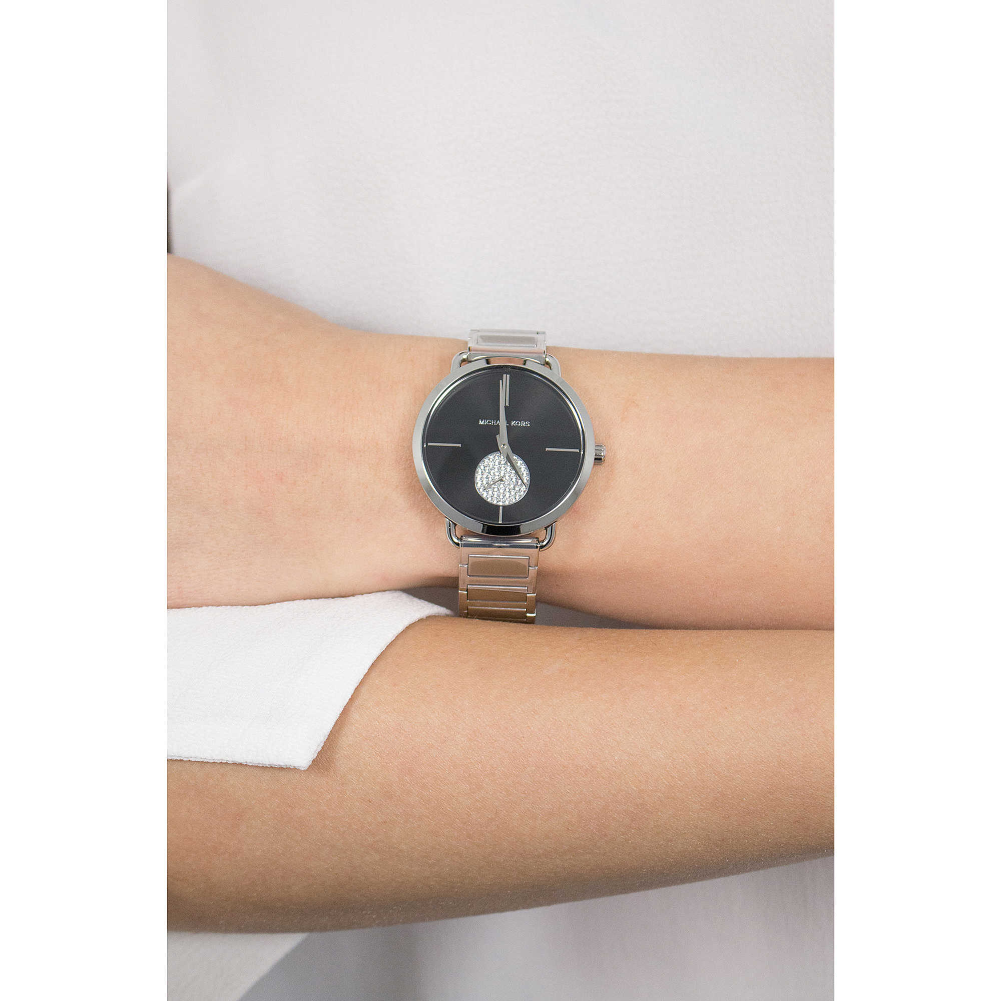 6f28efb64d0a Michael Kors multifunction Portia woman MK3638 photo wearing. zoom. sale  watches ...