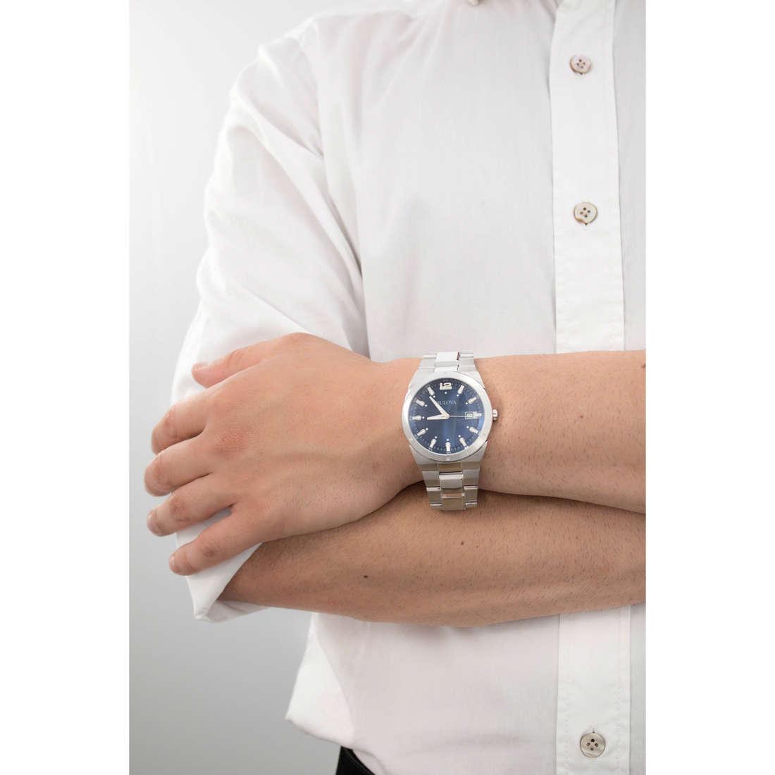 Bulova only time Dress man 96B220 indosso