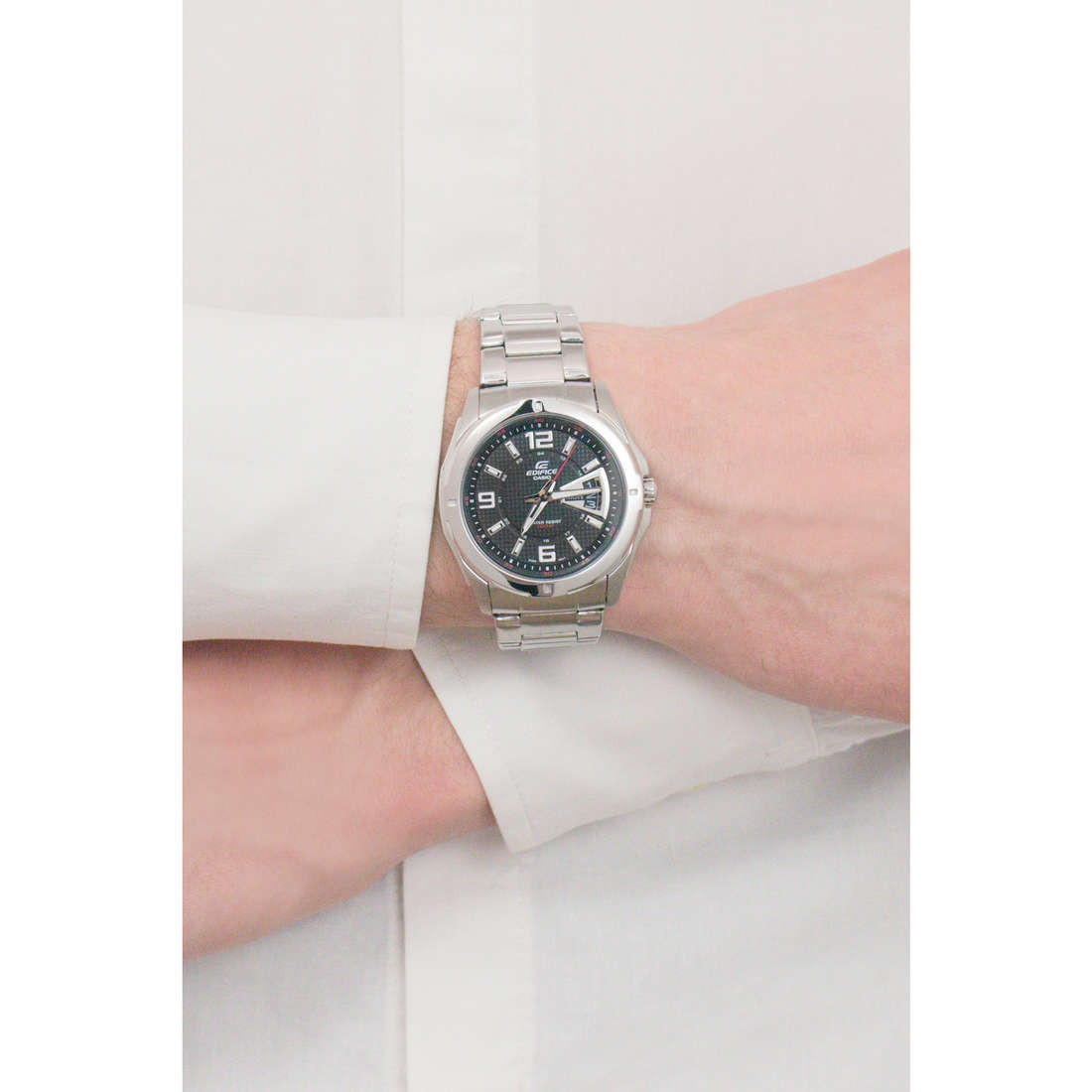 Casio only time Edifice man EF-129D-1AVEF photo wearing