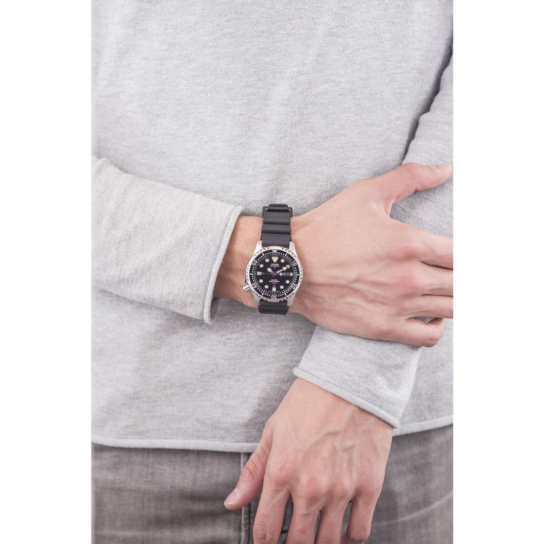Citizen only time Promaster man NY0040-09E photo wearing