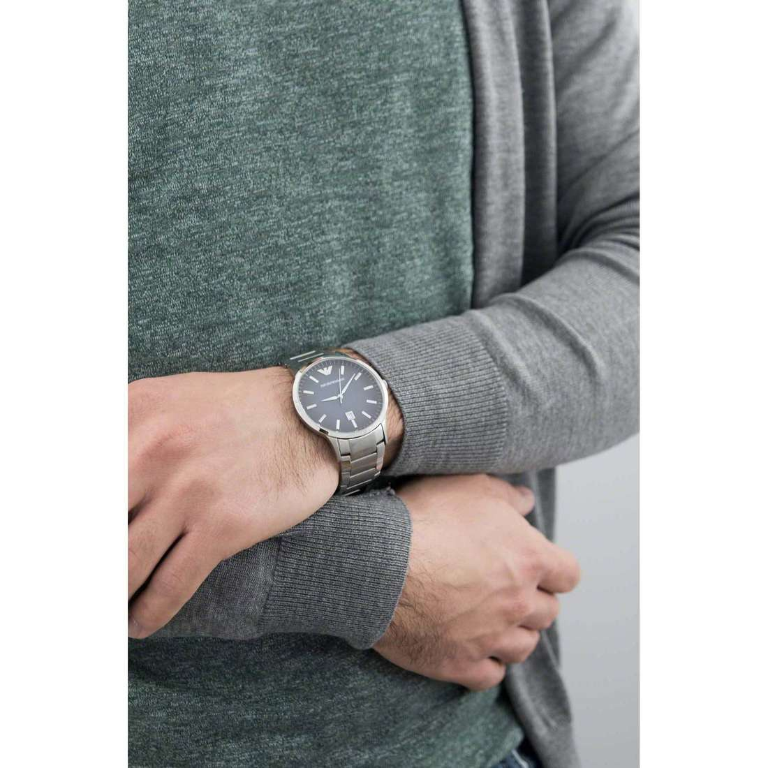 Emporio Armani only time man AR2472 indosso